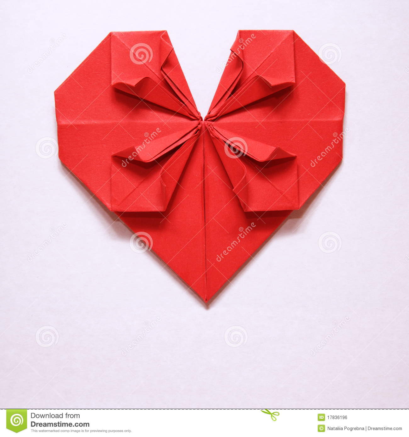 valentine's day red heart origami card stock photo - image: 17836196, Ideas