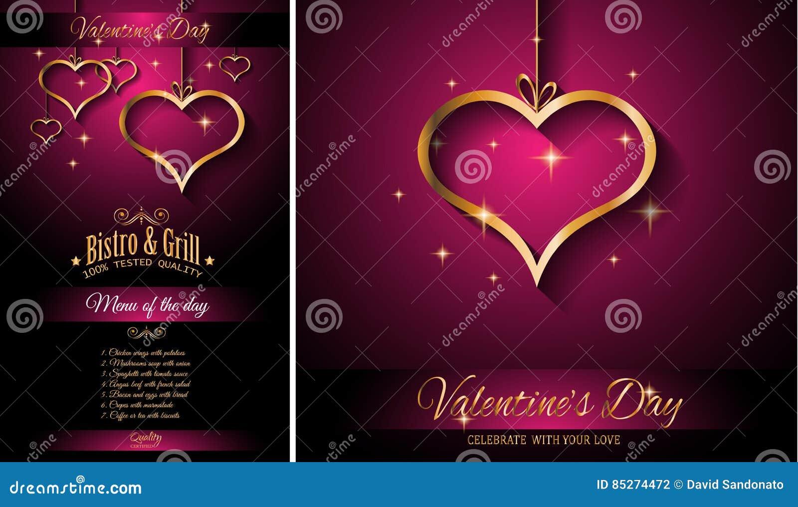valentine s day restaurant menu template background for romantic