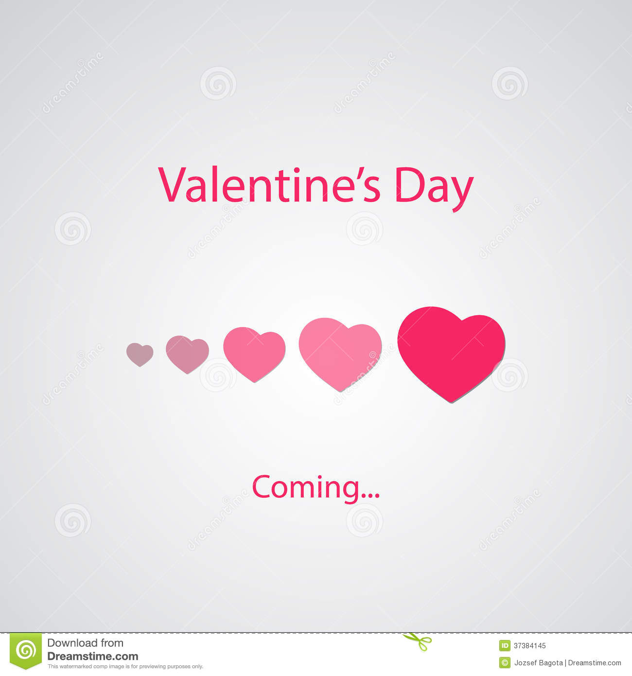 Valentine s Day s Coming - Greeting Card Concept