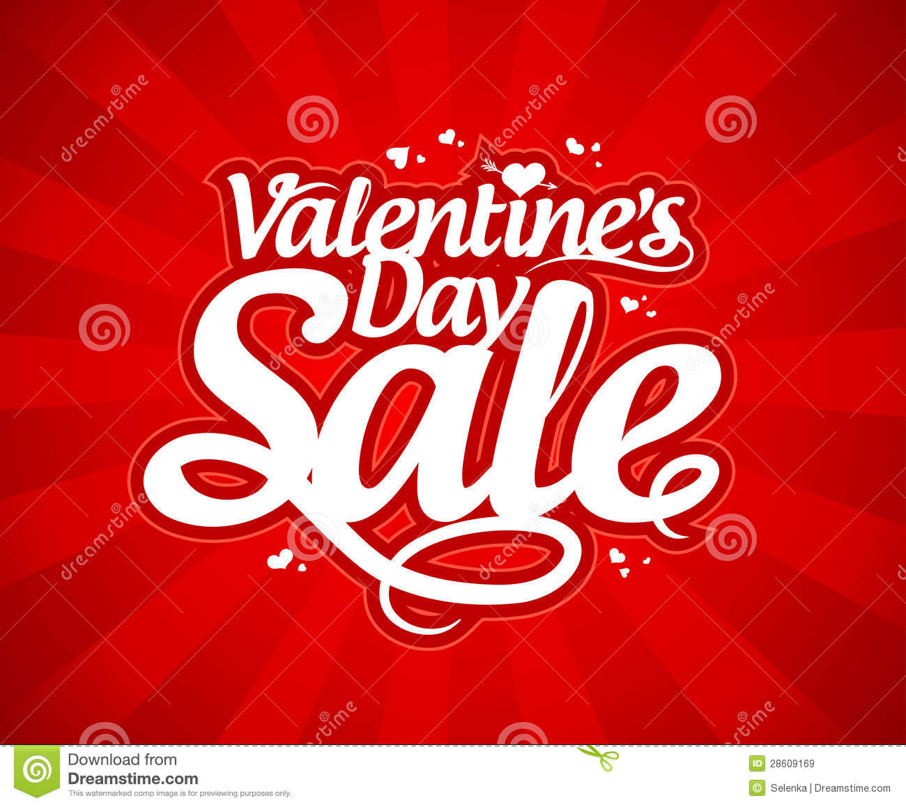 Valentine`s Day Sale. Royalty Free Stock Images - Image: 28609169
