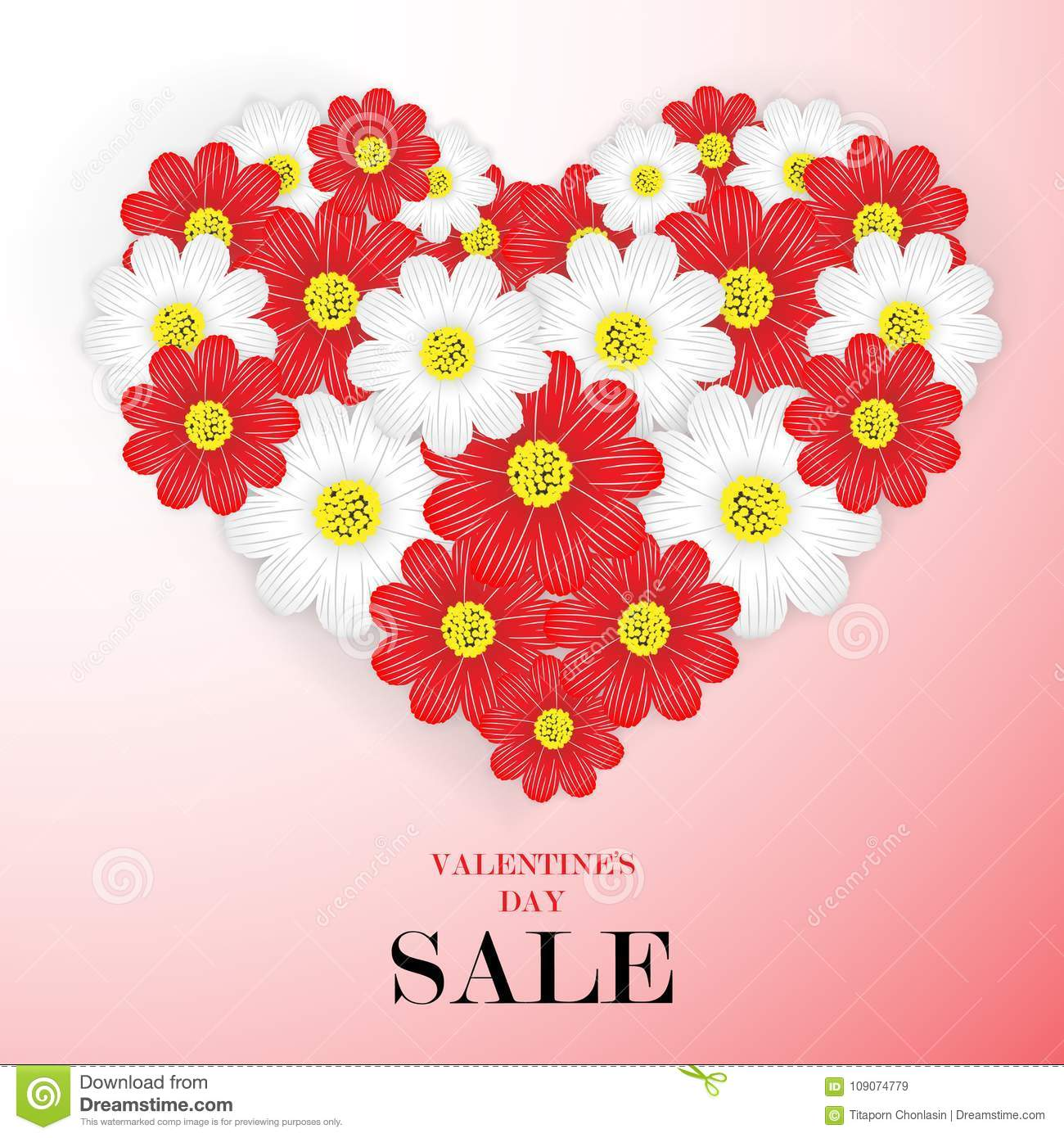 Valentines day sale background with beautiful flowers vector i download valentines day sale background with beautiful flowers vector i stock vector izmirmasajfo