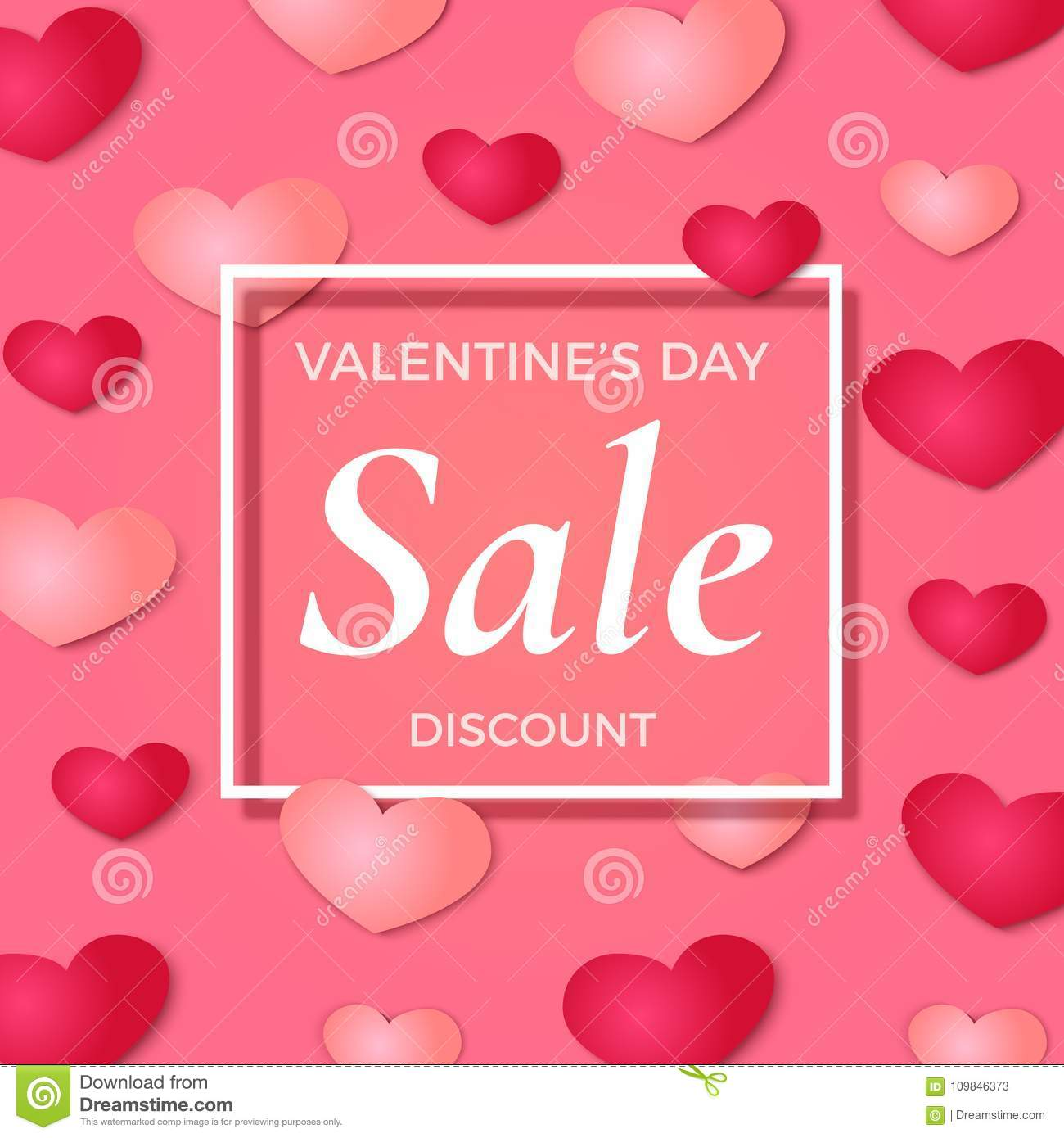 Valentine S Day Sale Background Poster Broshure Or Flyer Template