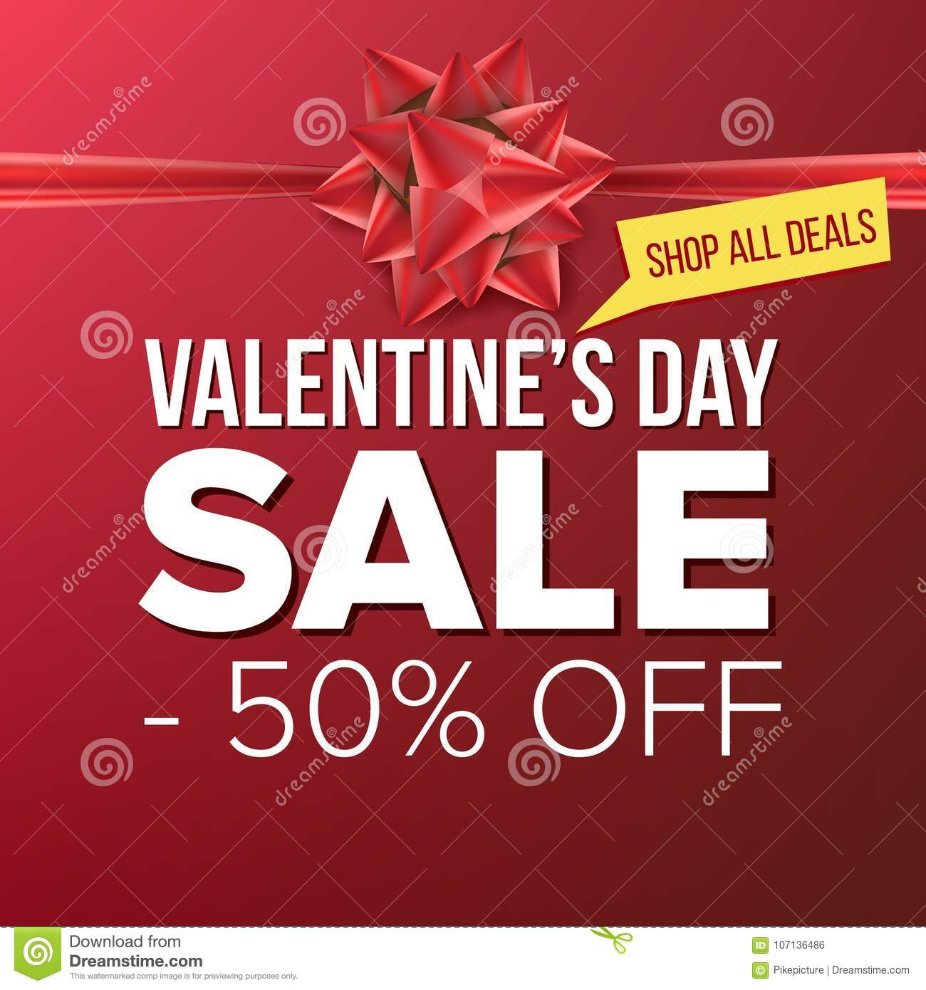 Valentine S Day Sale Banner Vector Big Super Sale Cartoon Business