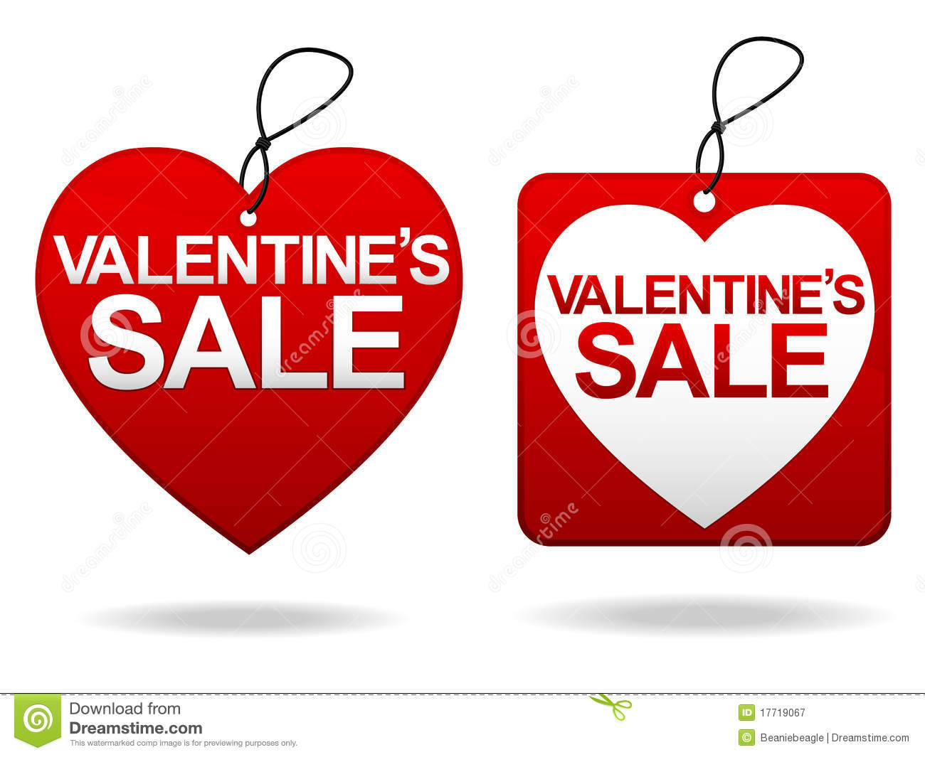 Valentine S Day Sale Tage Stock Vector Illustration Of Drawing