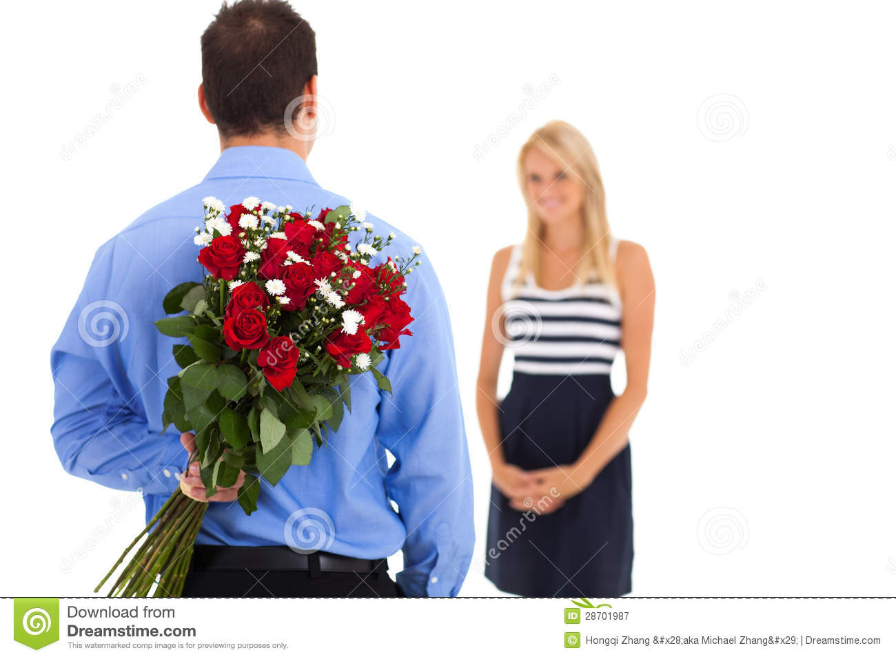 Valentine S Day Surprise Stock Image Image Of Present 28701987