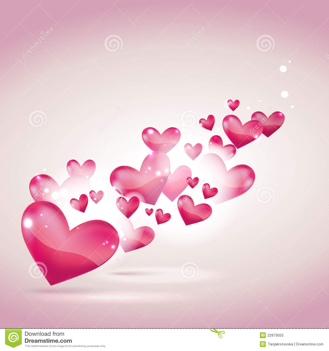 Valentines Day Or Wedding Card And Background Stock Vector
