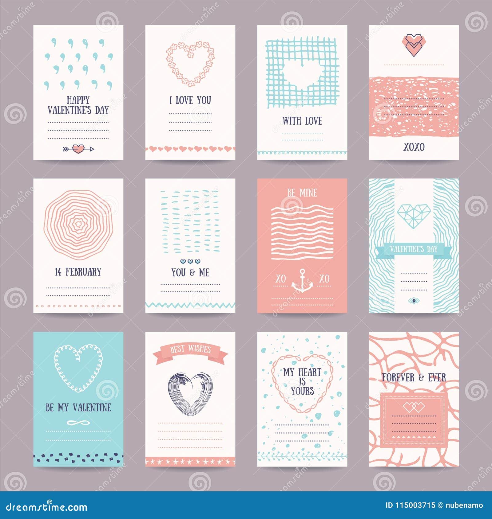 Romantic Card, Wedding Invitation Design Templates Stock Vector ...