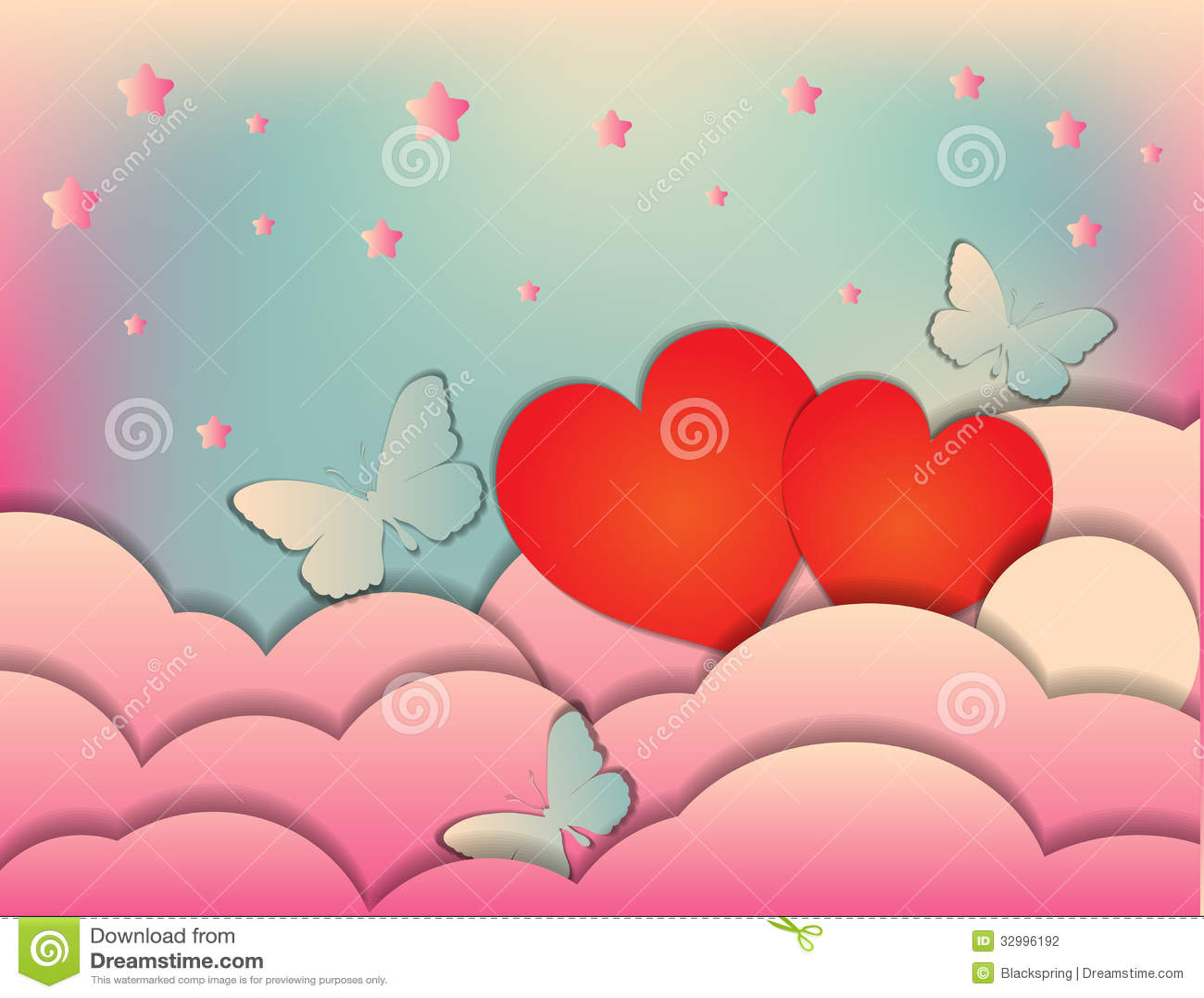 Valentine\'s Day, Wedding. Invitation Or Poster Design Template ...