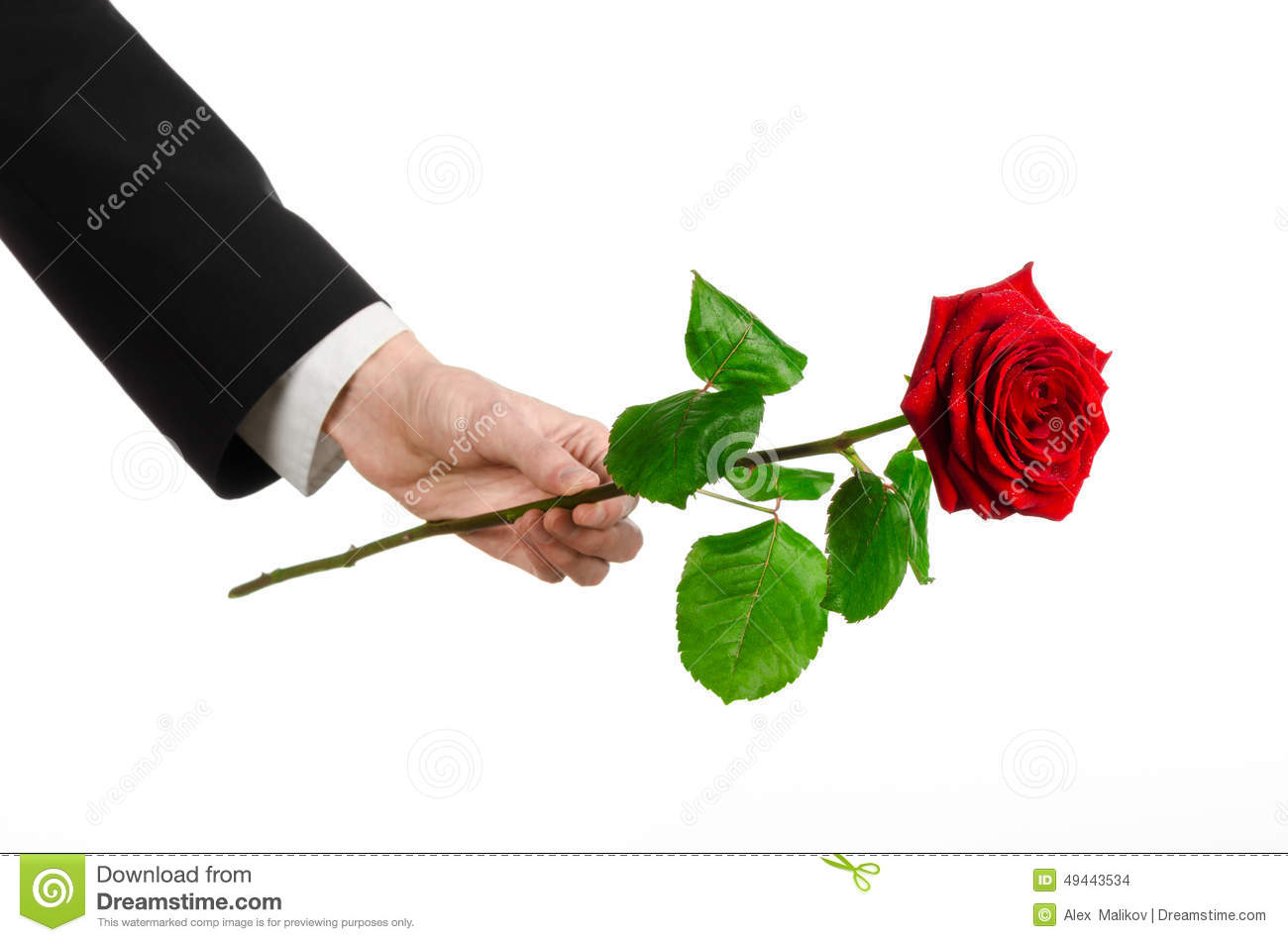 Valentines Day And Womens Day Theme Mans Hand In A
