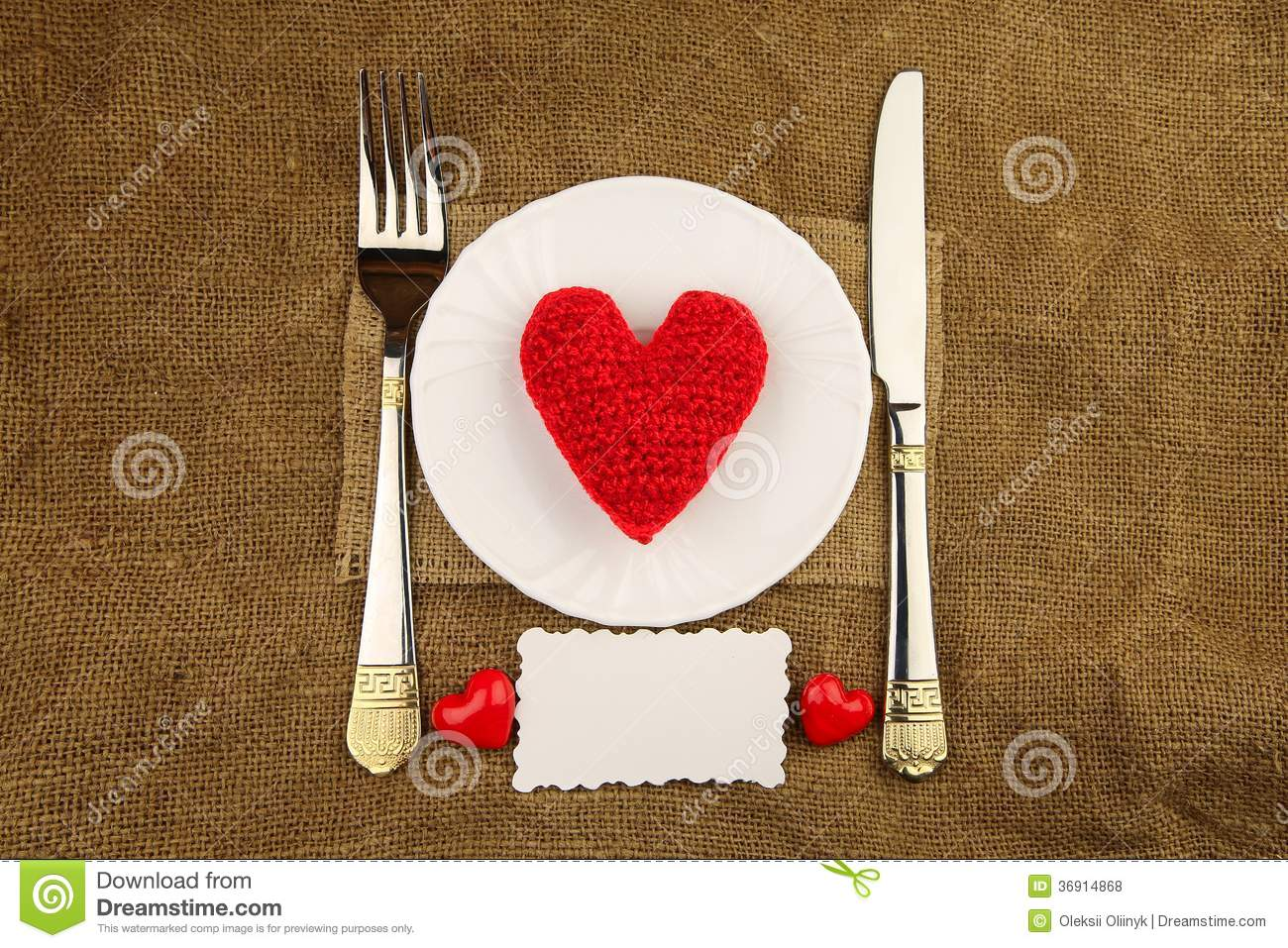 Download Valentine's Dinner With Handmade Heart Stock Photo - Image of circle, china: 36914868