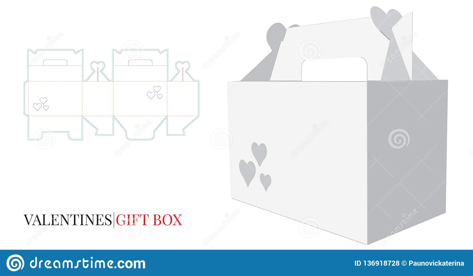 How to make a valentines day hearts gift or chocolates box craft.