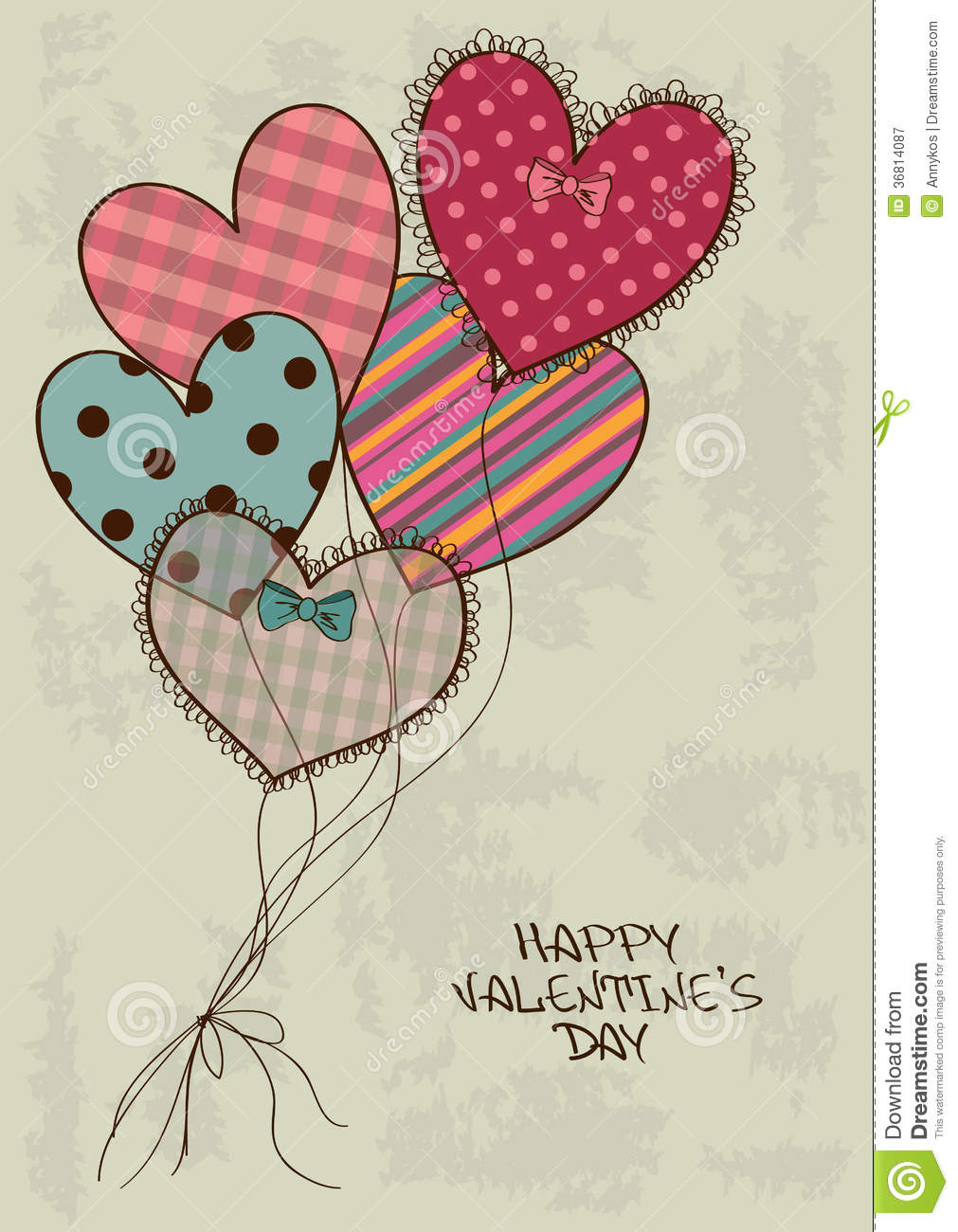 heart air balloons card s greeting card with air balloons stock 4652