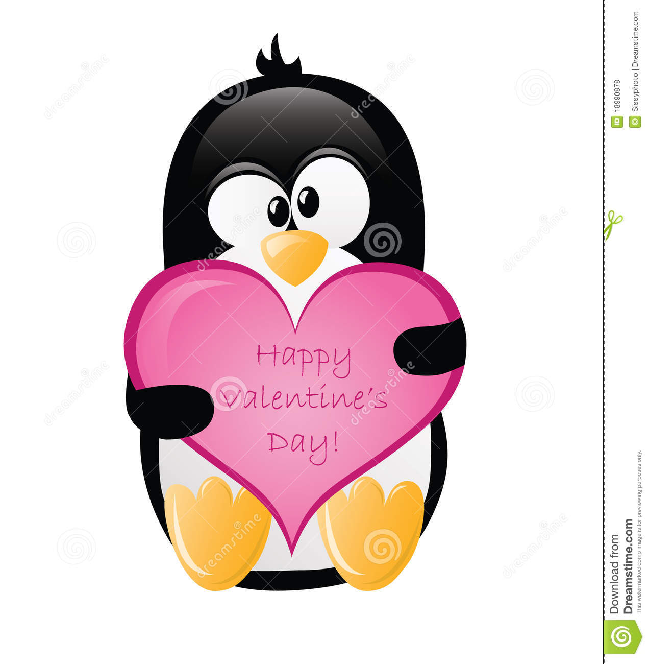 Valentines Greeting Penguin Stock Photo Image Of
