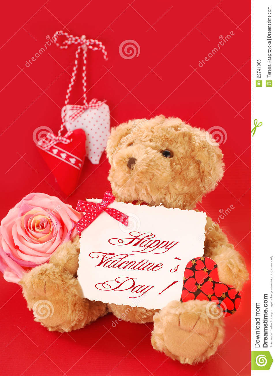 Valentines greetings from teddy bear stock photo image of paper download valentines greetings from teddy bear stock photo image of paper beautiful m4hsunfo