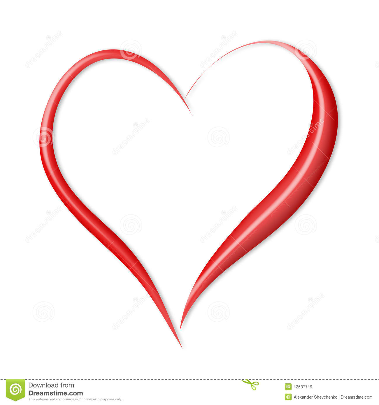 Valentine Heart Images Valentine's heart isolated on