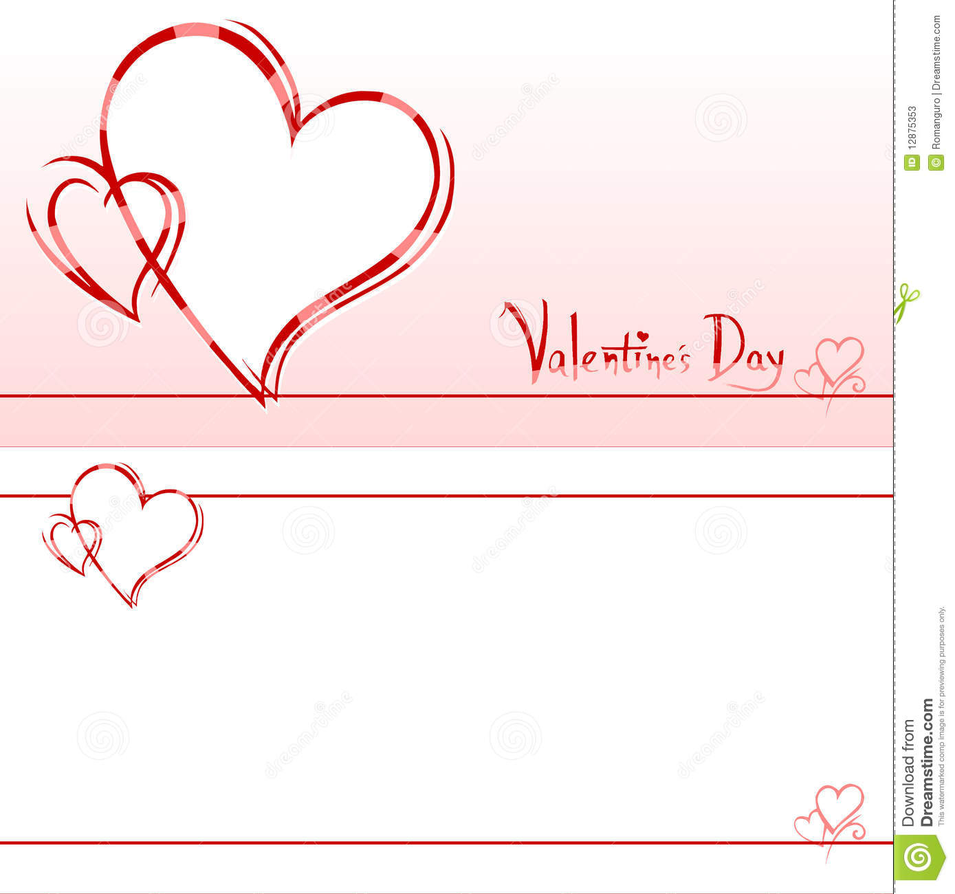 Valentine's Invitation Card Stock Photos - Image: 12875353