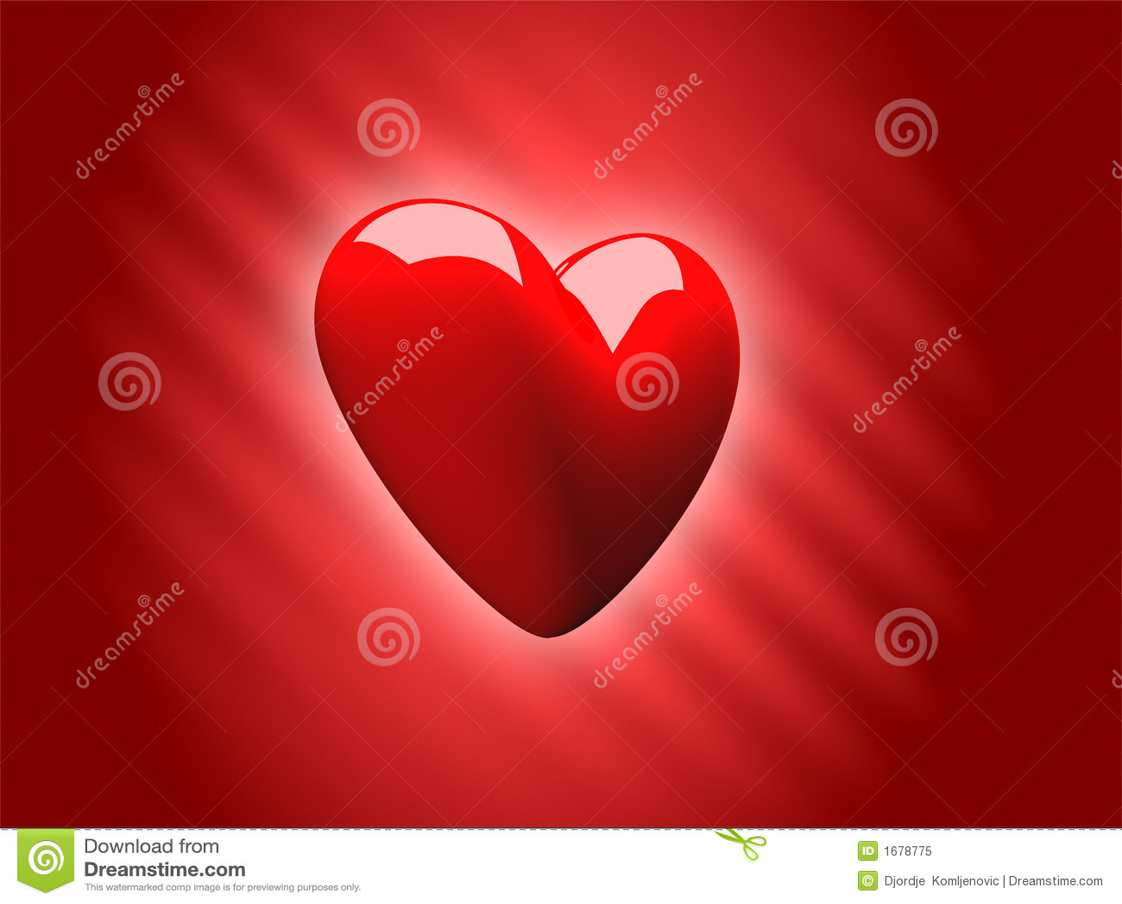 Valentine's Love Heart 3D Royalty Free Stock Photo
