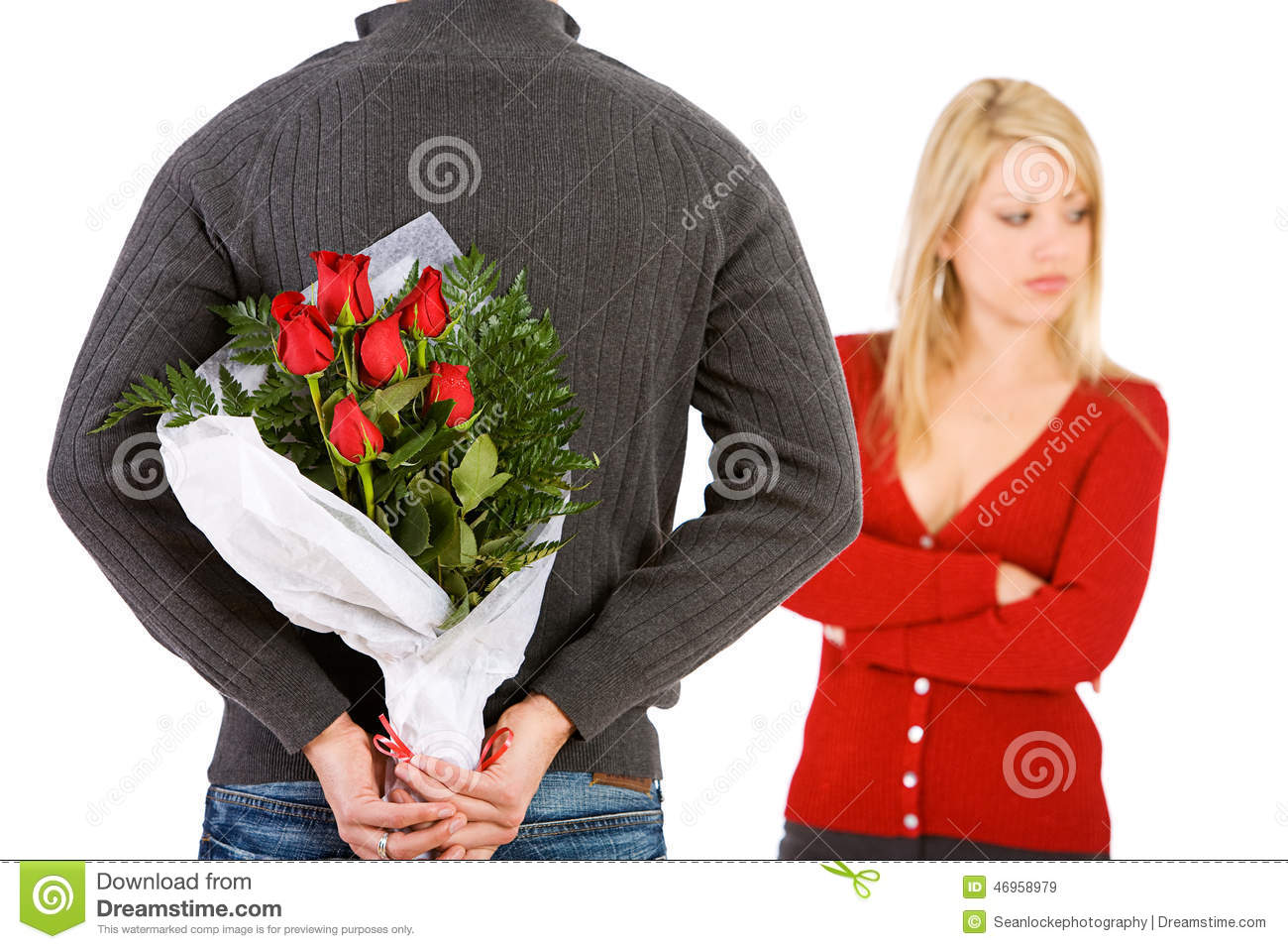 When a man buys a woman flowers