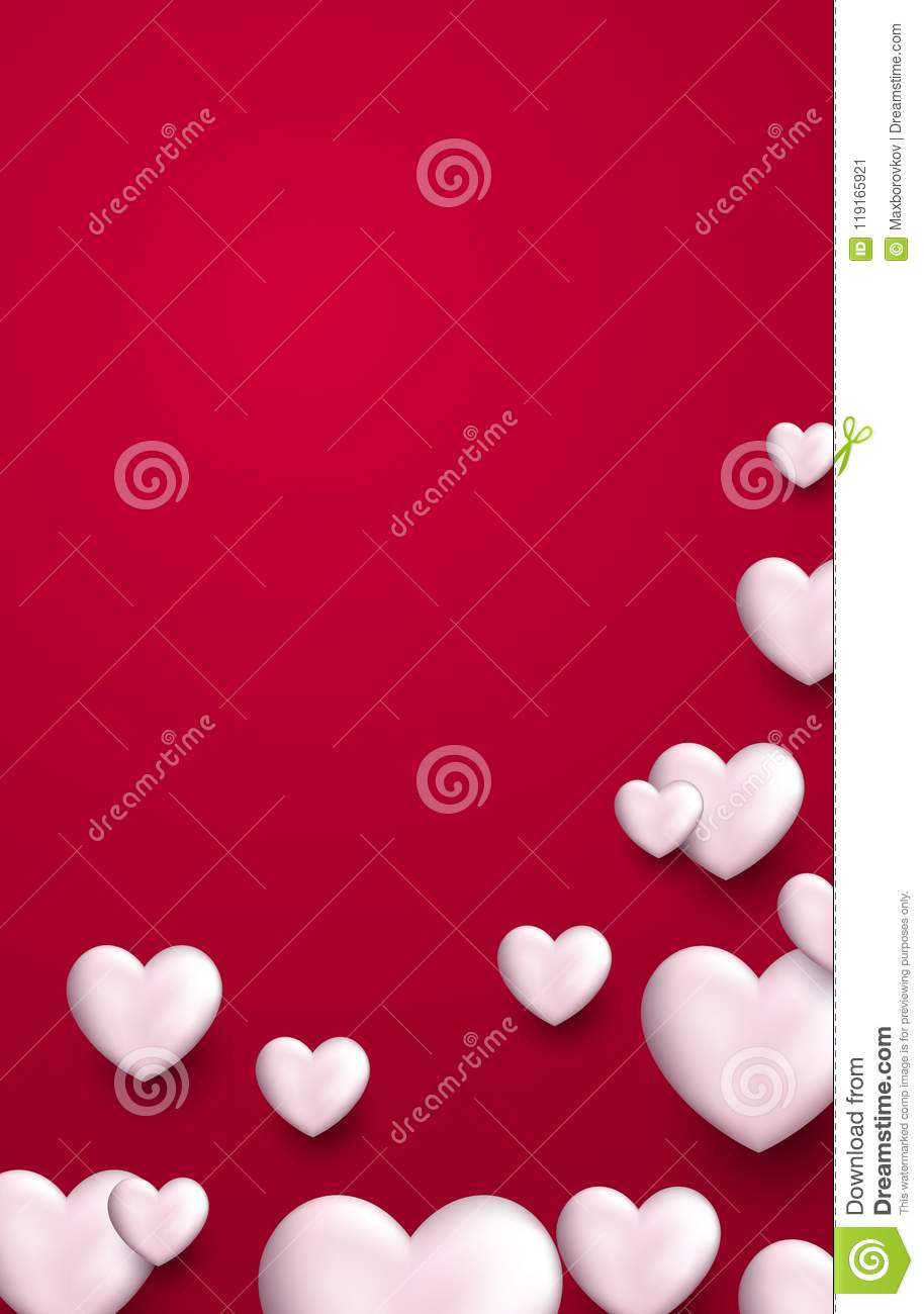 Valentine S Love Background With Hearts Stock Vector