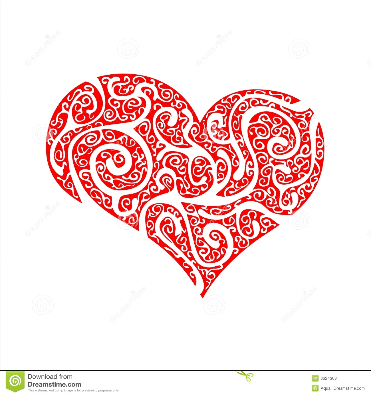 Valentine s red ornate heart