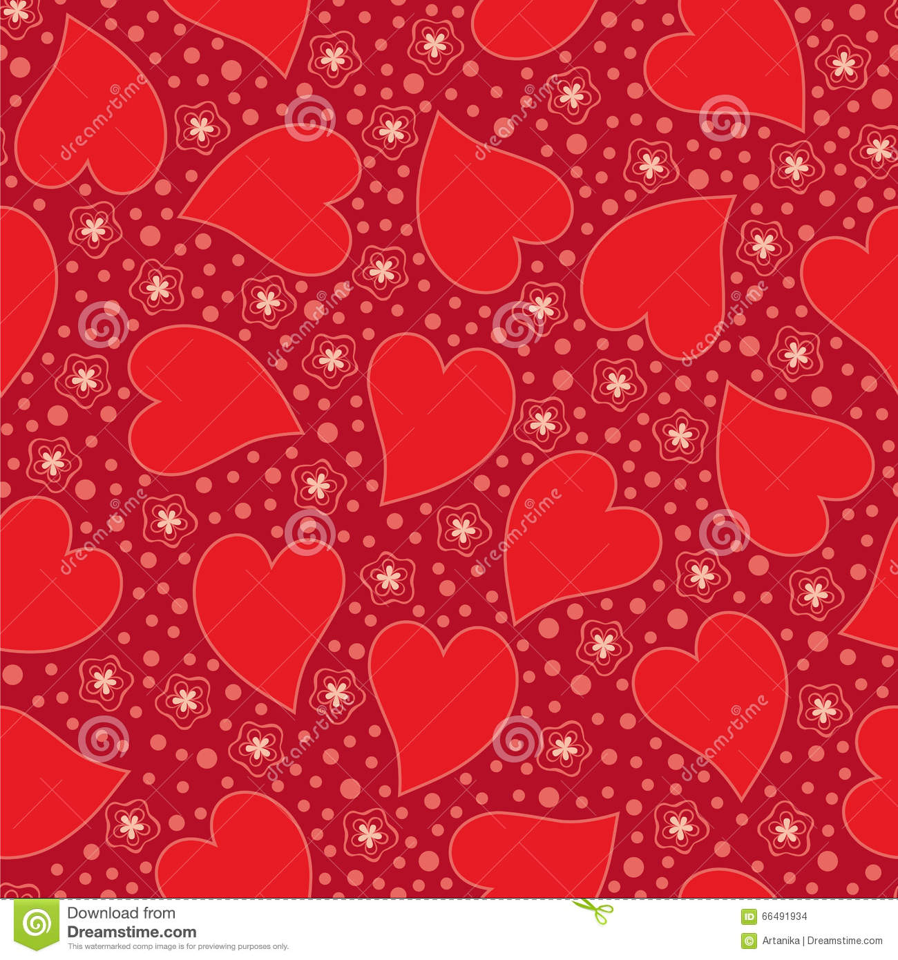 Valentine Seamless background with hearts