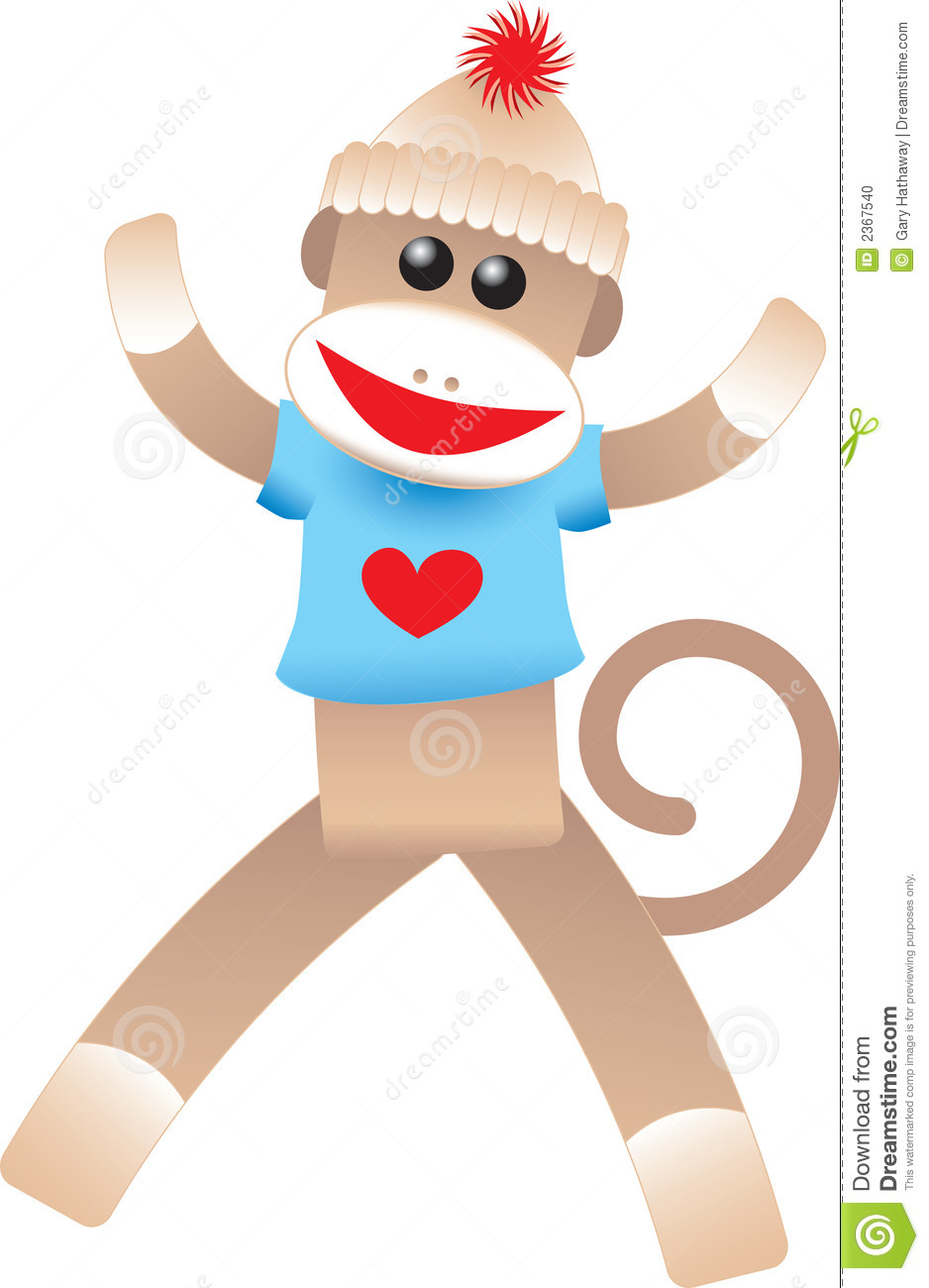 Valentine Sock Monkey Stock Photo Image 2367540