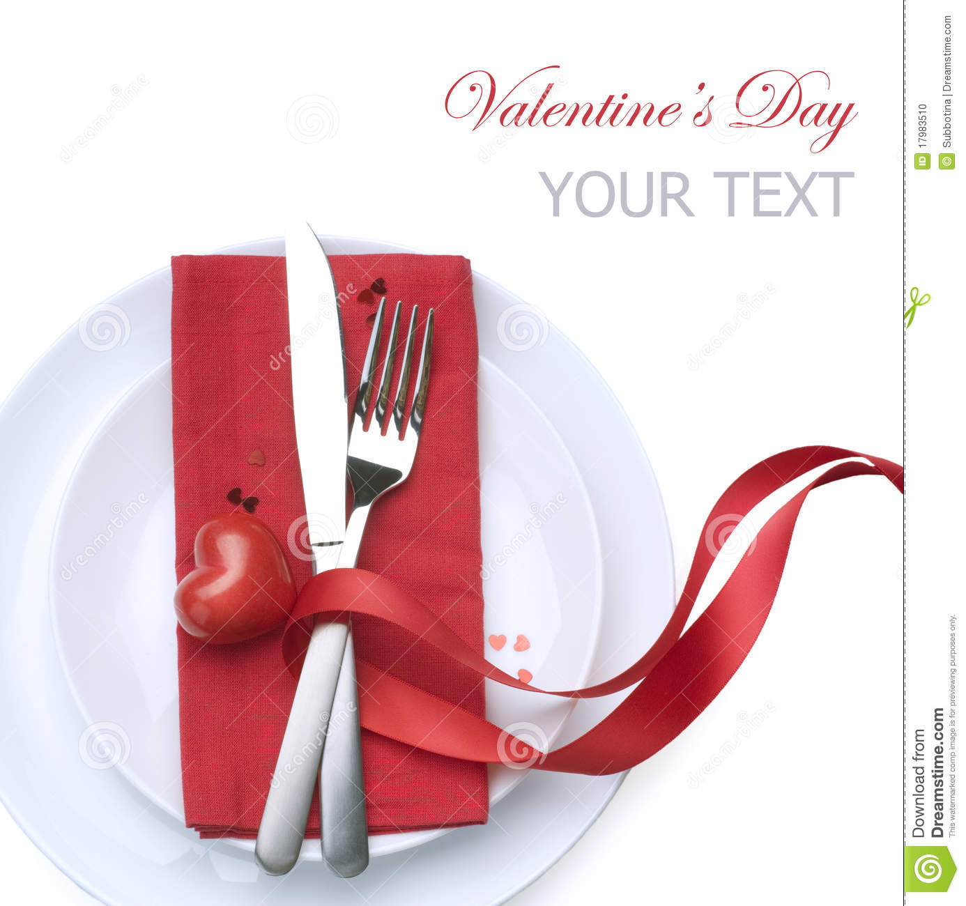 Valentine table setting stock photo image 17983510 for Table 52 valentine s day