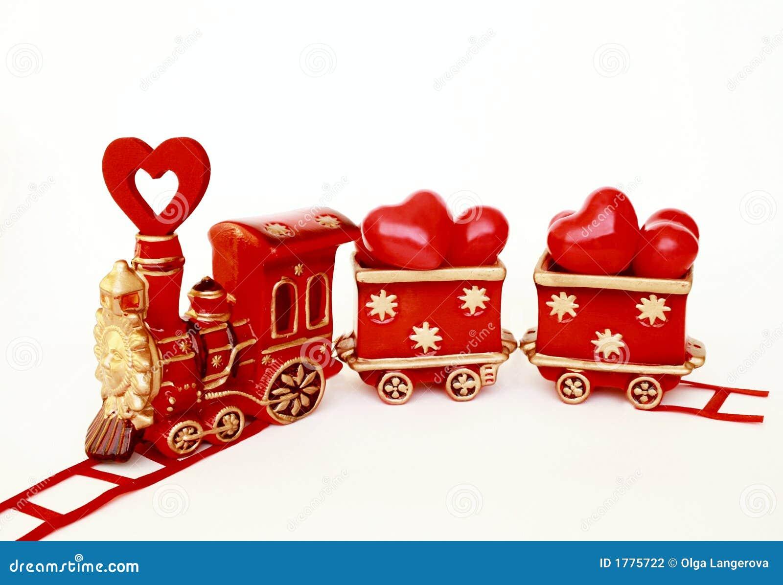 Valentine train stock photo image of model romantic