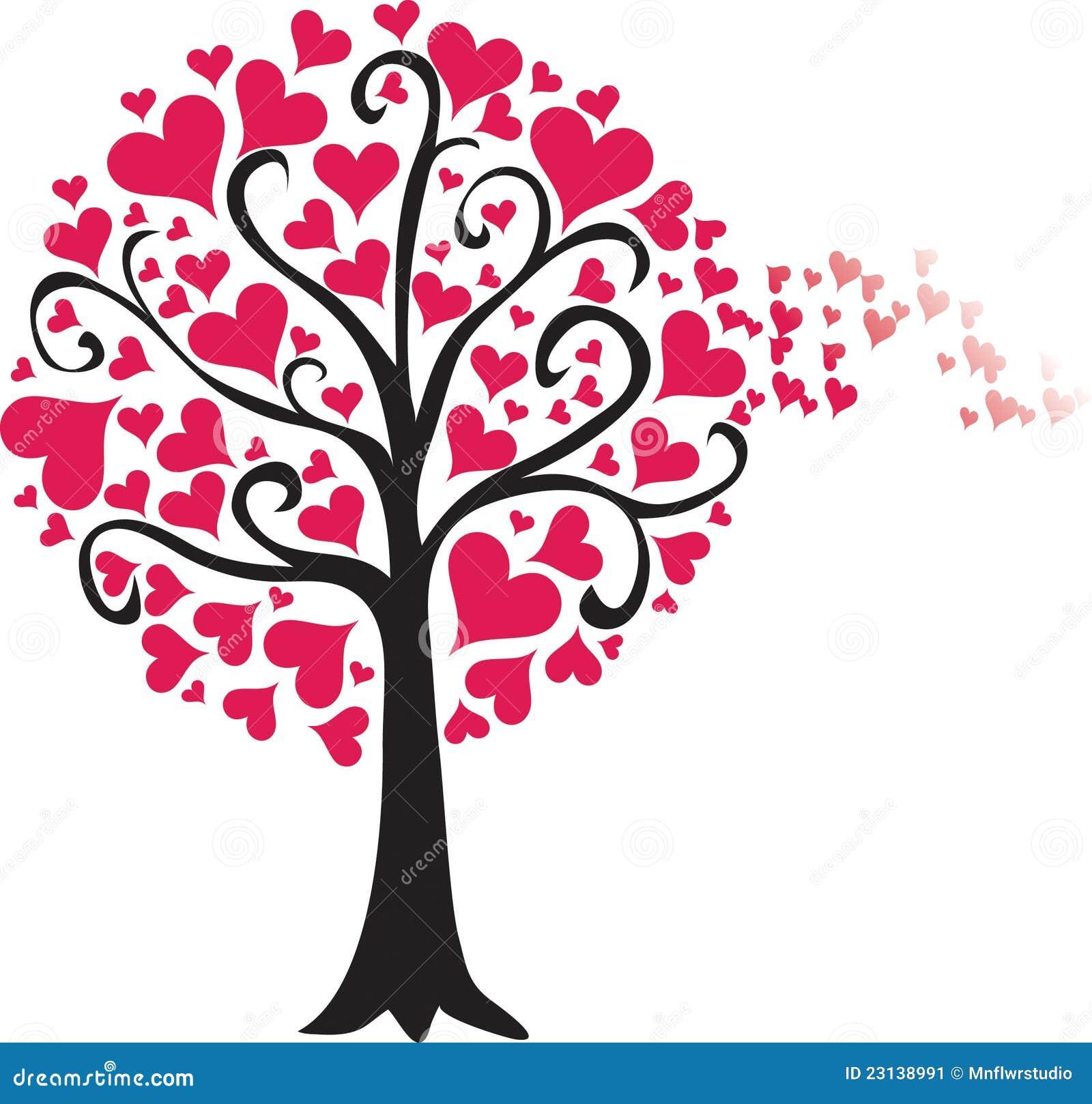 Valentine Tree Breeze Stock Image - Image: 23138991