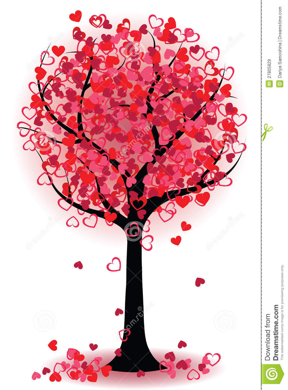 Valentine Tree Of Hearts Royalty Free Stock Images Image