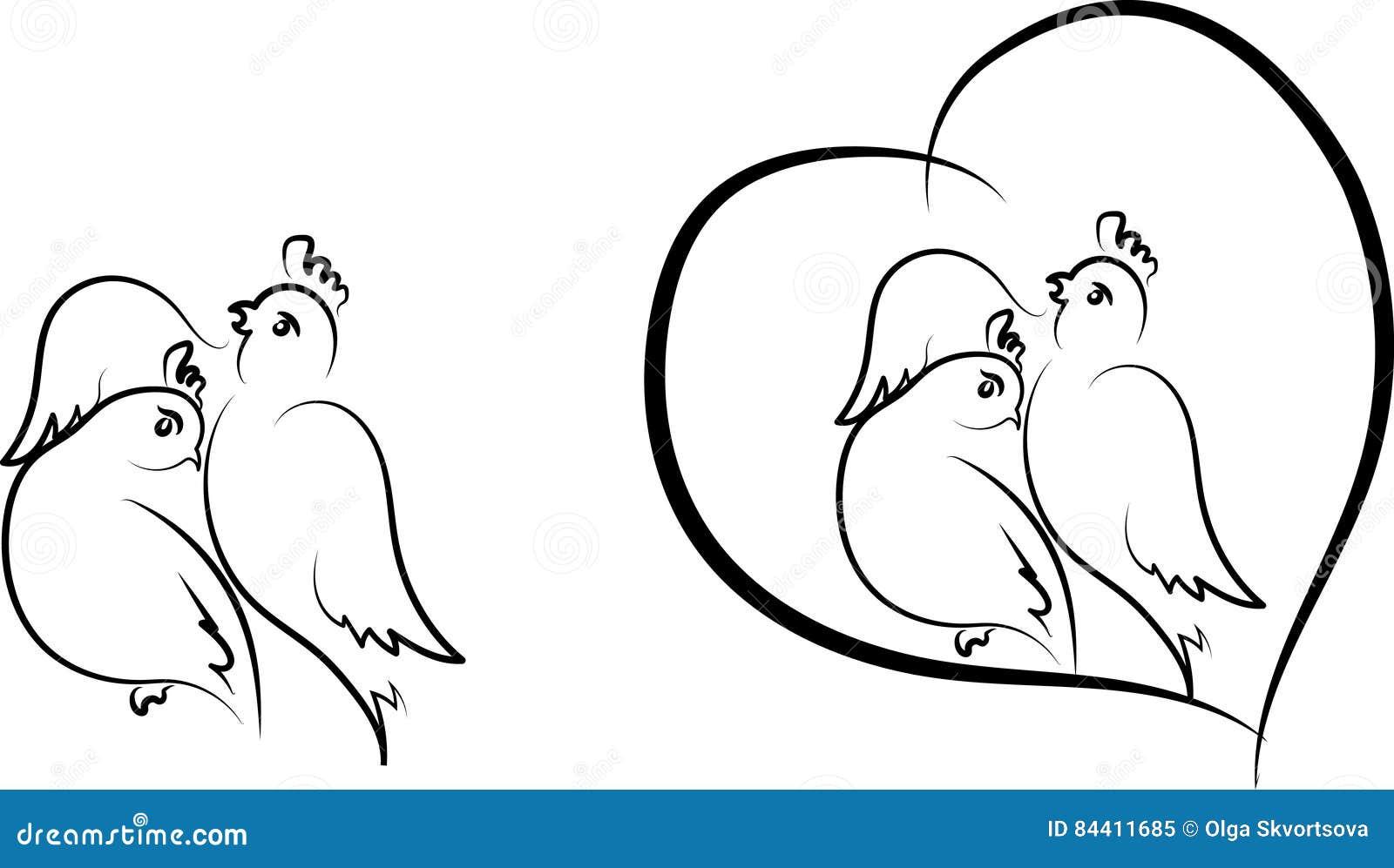 Valentine - vogels