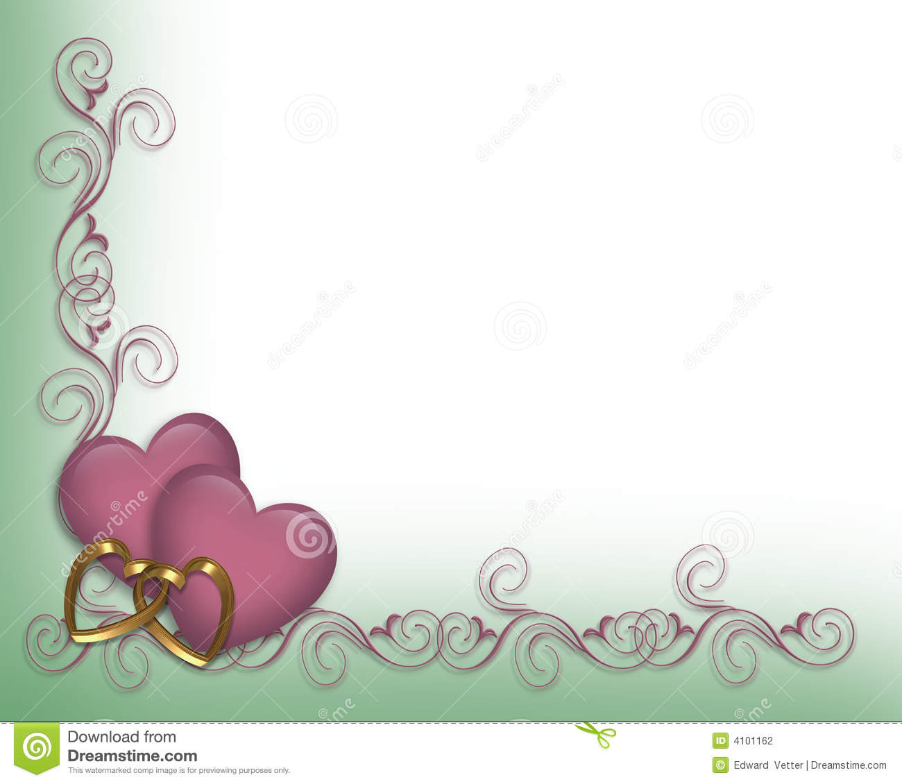Valentine Wedding Border Lavender Stock Photography