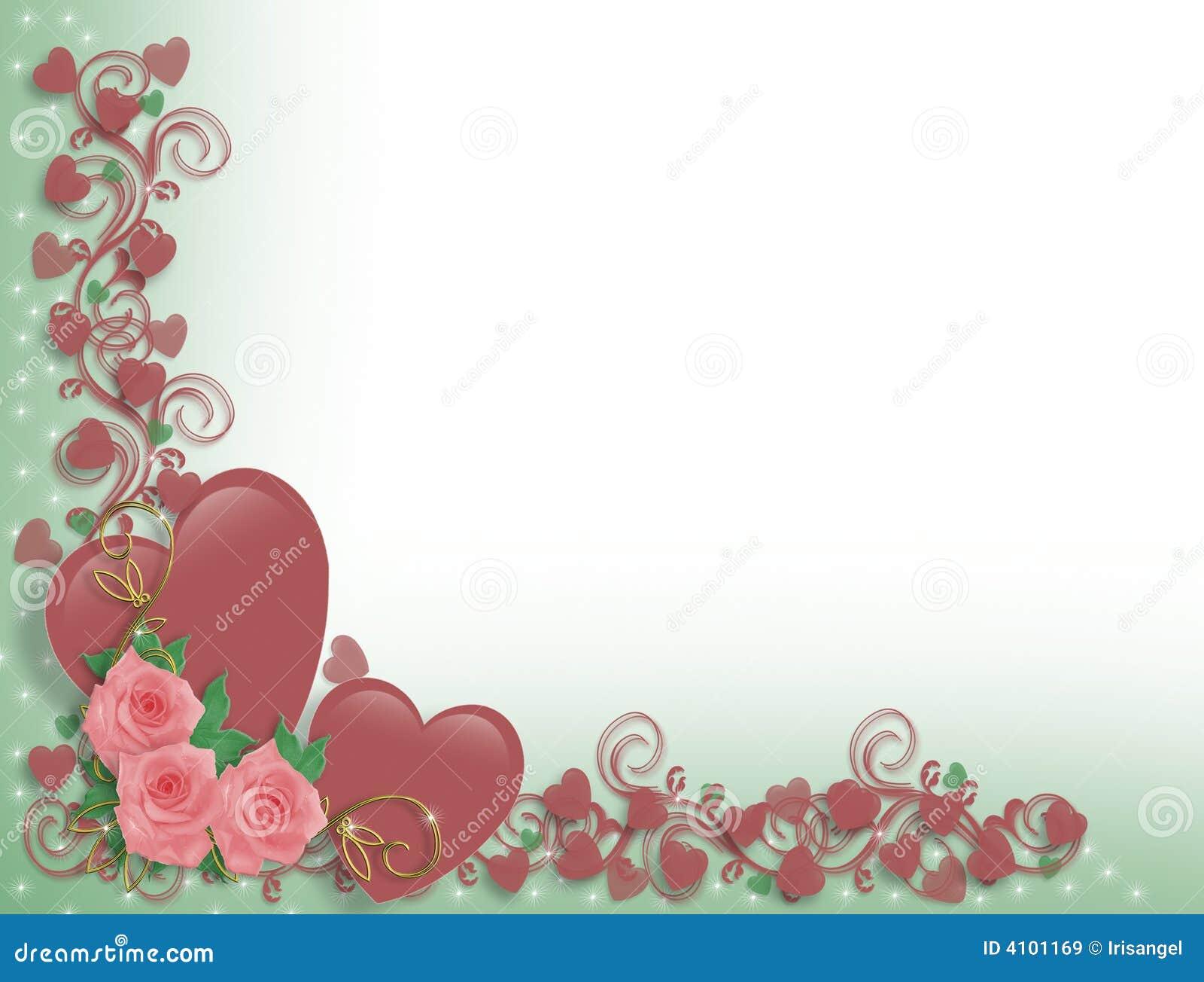 valentine or wedding hearts border royalty free stock