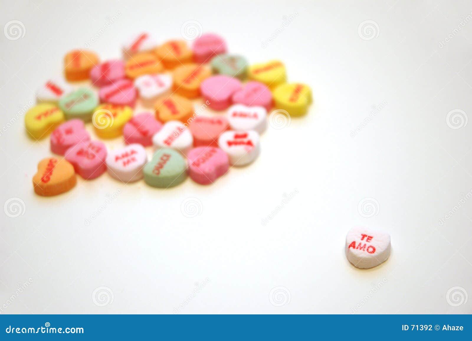 Valentiner för te för amo-konversationhjärtor