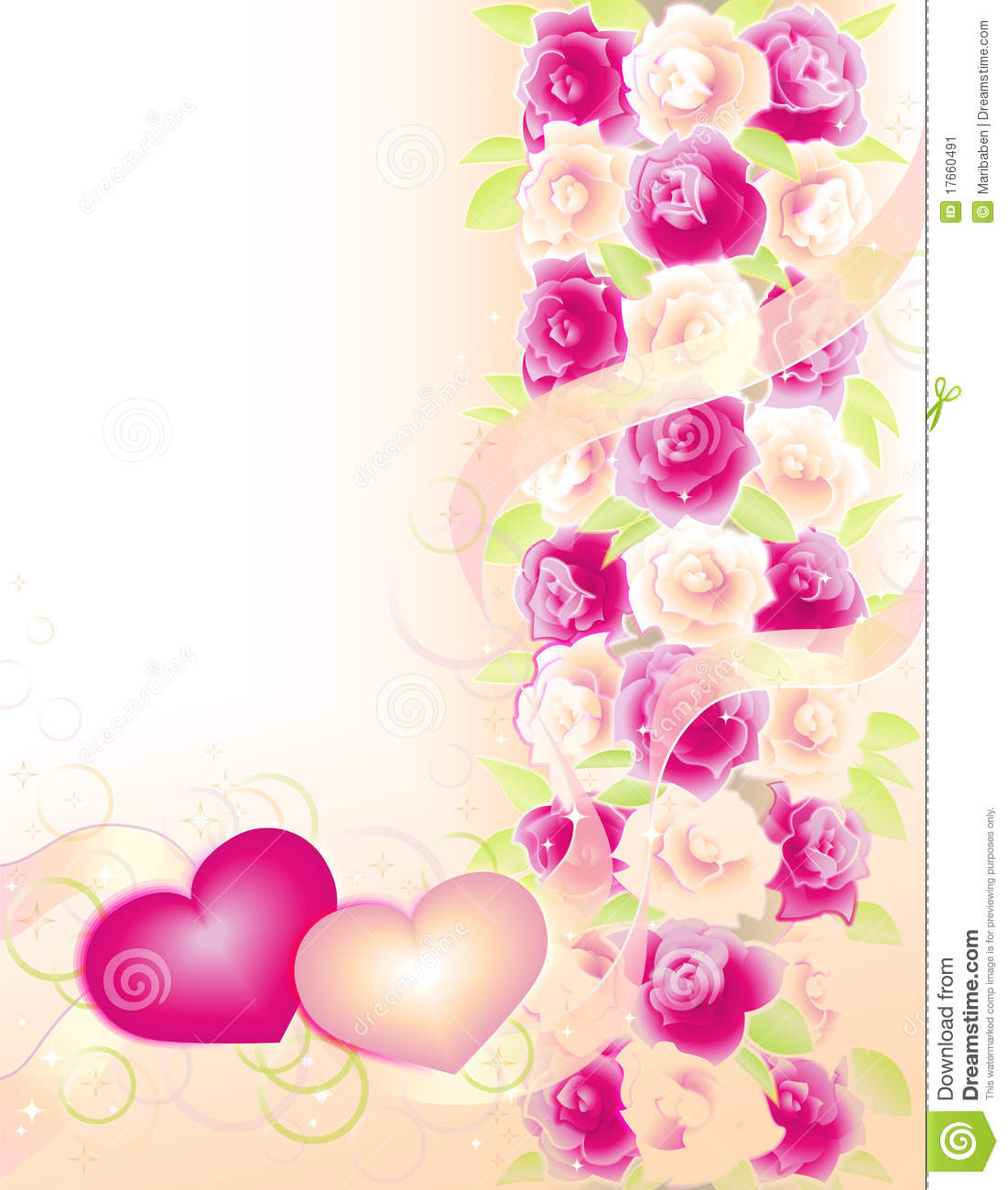 More similar stock images of ` Valentines background with roses and ...