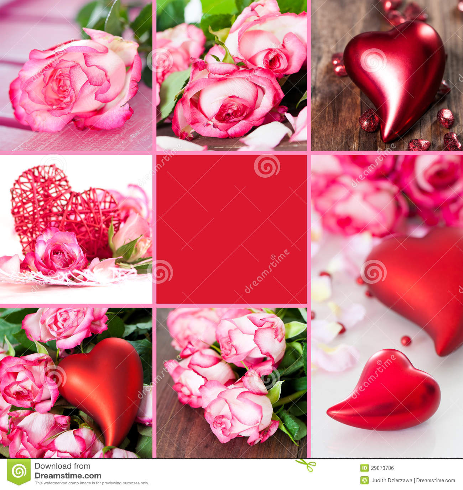 Elegant Valentines Collage Royalty Free Stock Image   Image: 29073786