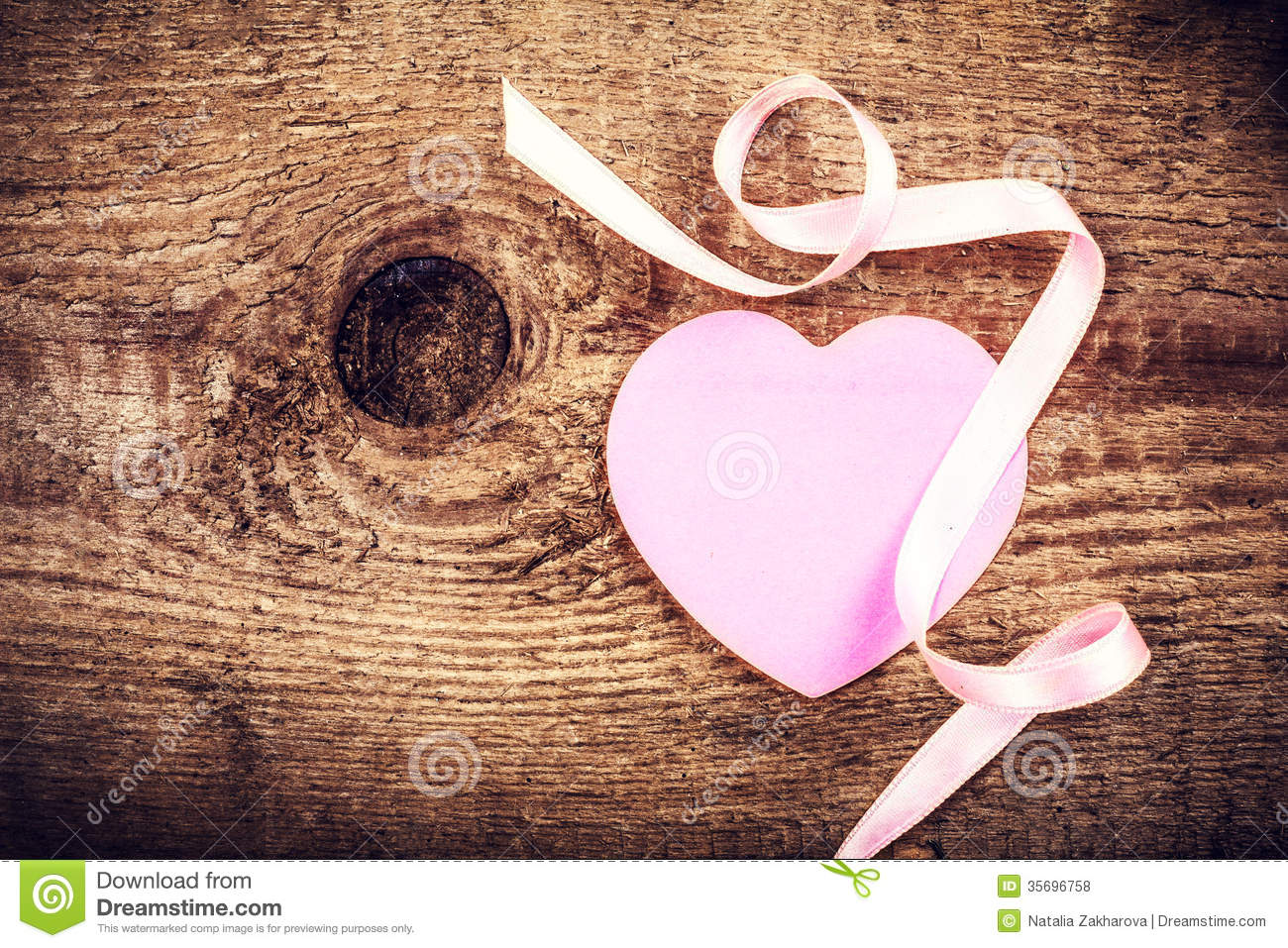 Valentines Day Background With Copyspace Soft Pink Paper Heart