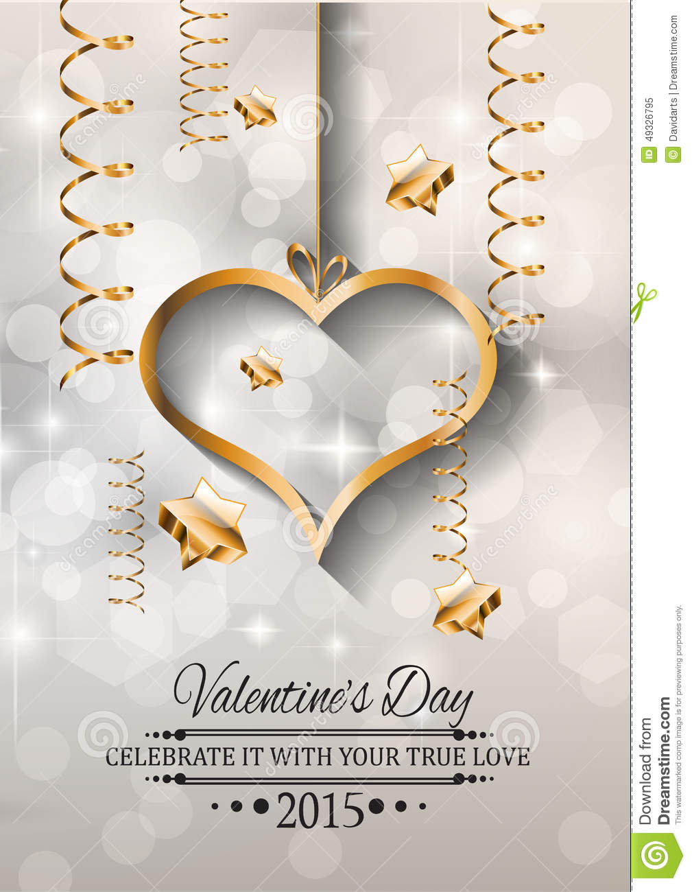 Valentines Day Background For Dinner Invitations Stock Vector