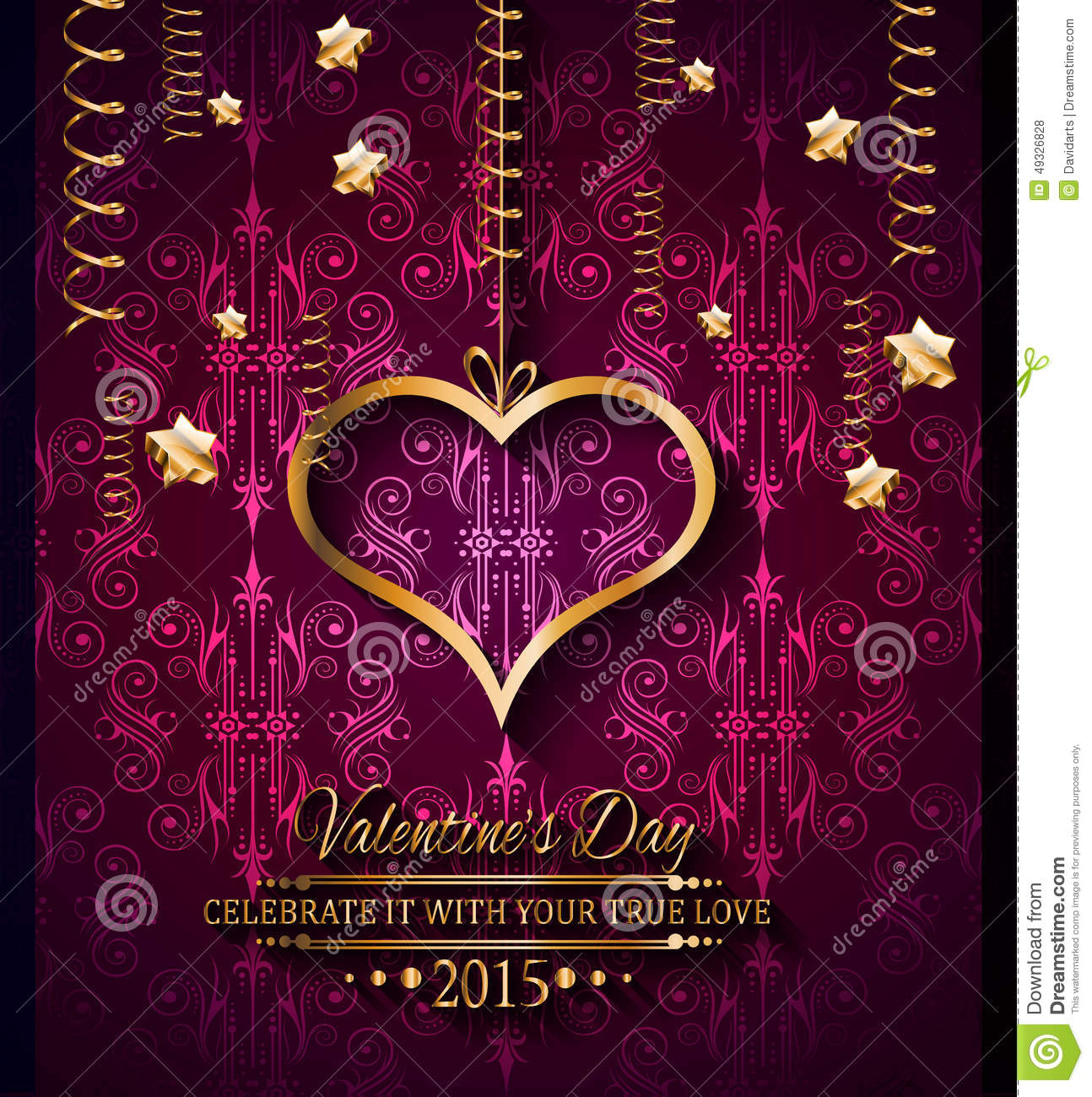 Romance Book Cover Vector : Valentines day background for dinner invitations stock