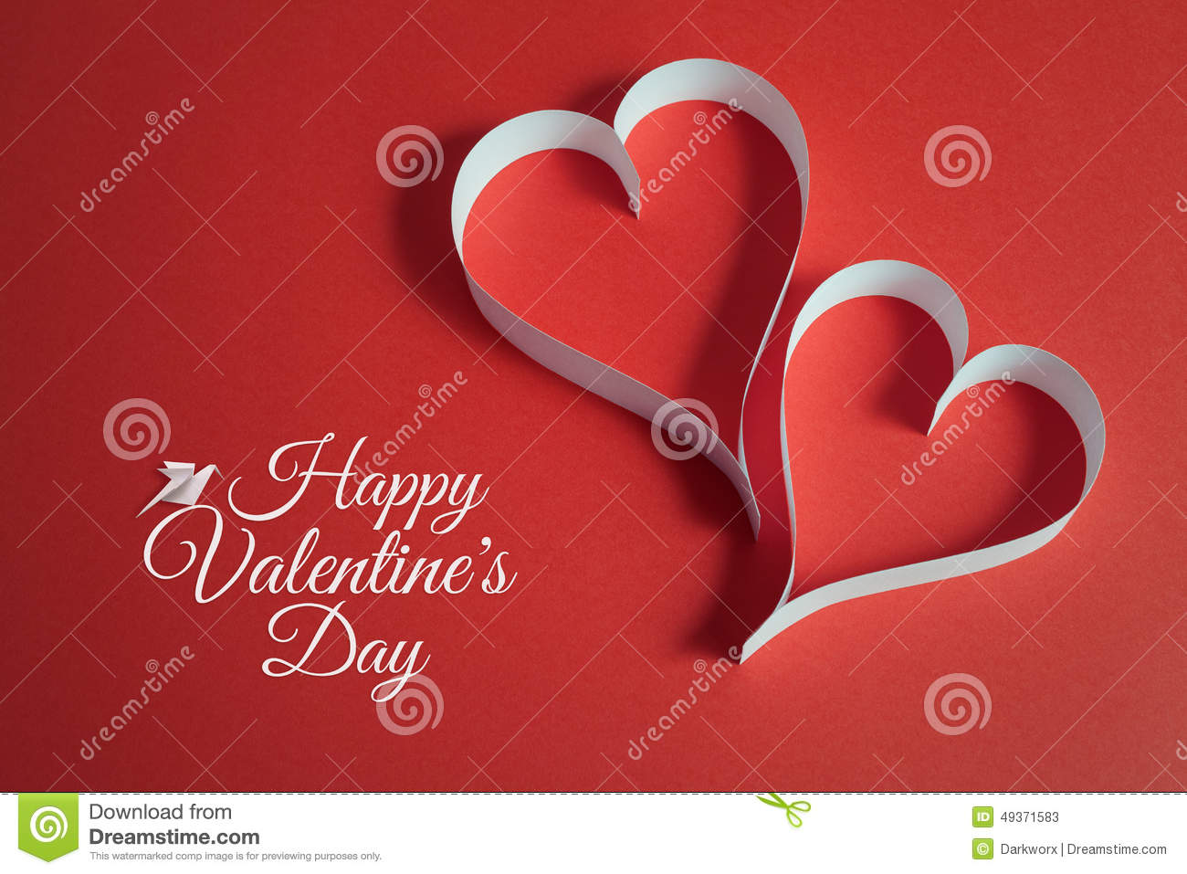 Valentines Day Background With Origami Dove And Papercraft ... - photo#45