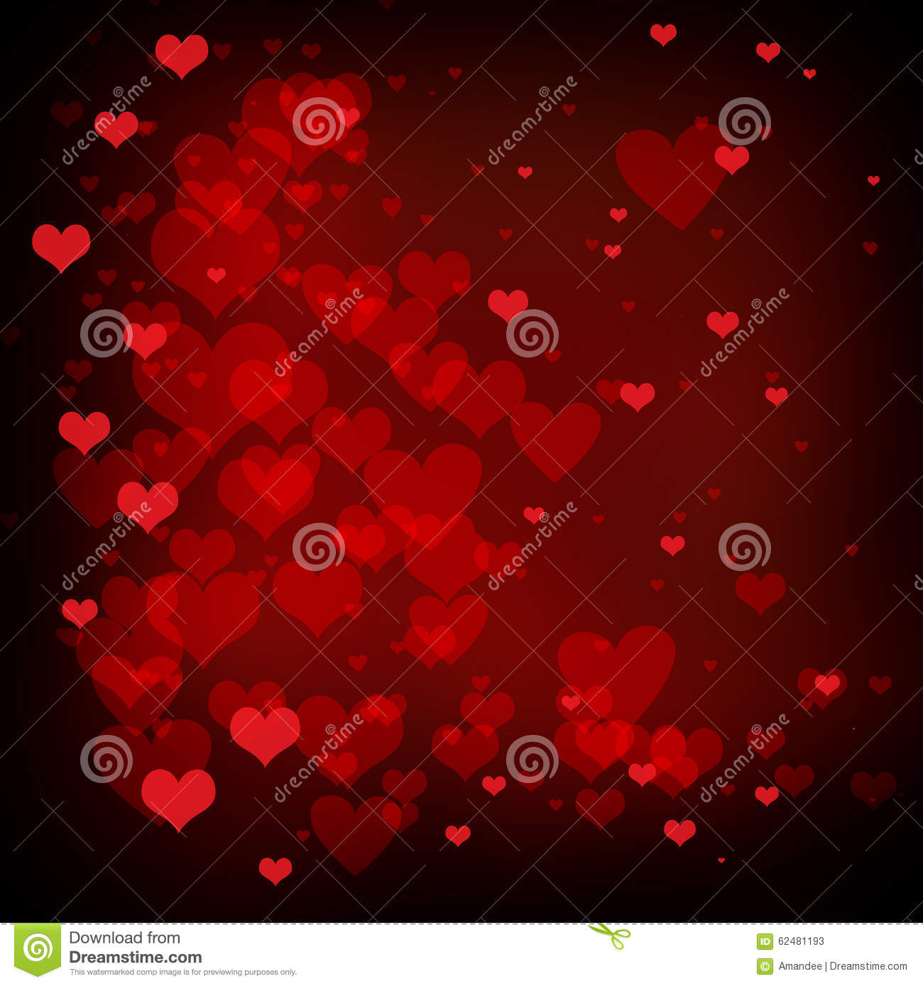 valentines day background with red hearts love background