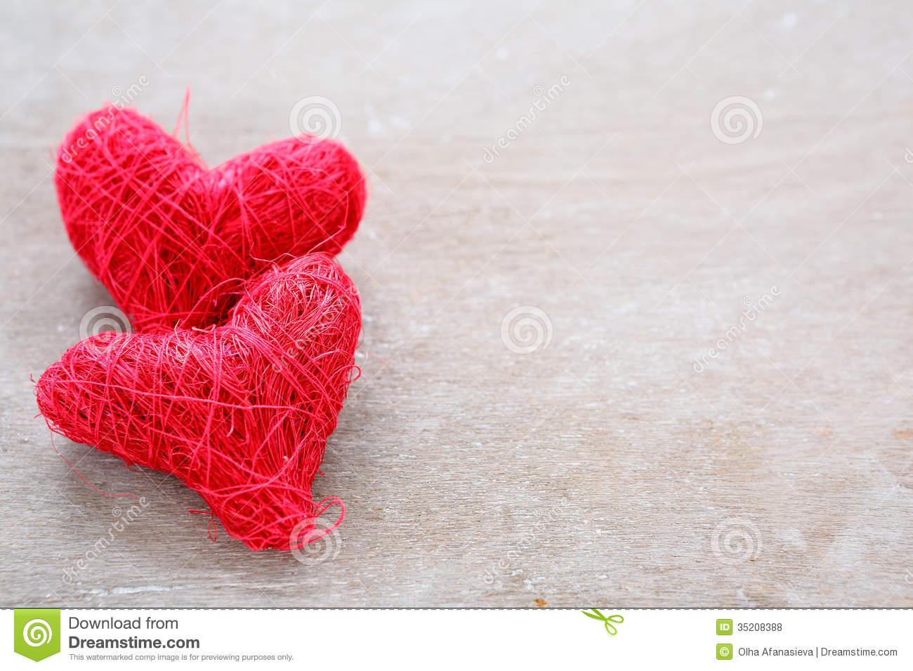 valentines day background with two red hearts royalty free stock