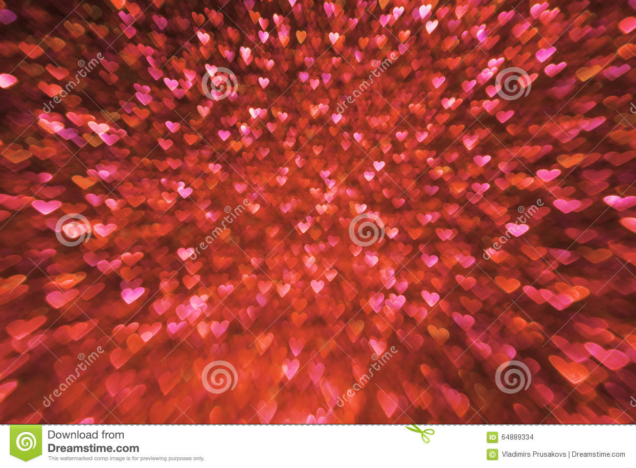 Valentines Day Background Valentine S Red Hearts Lights Stock