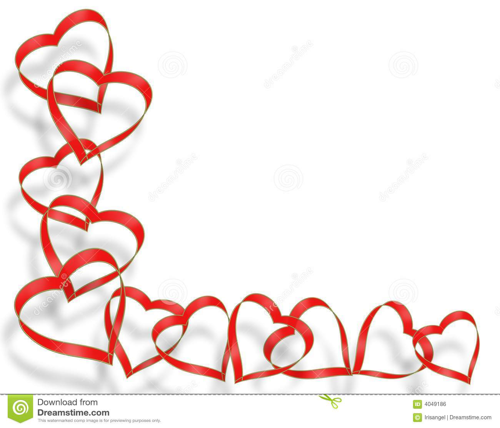 Valentines Day Border Royalty Free Stock Image - Image: 4049186