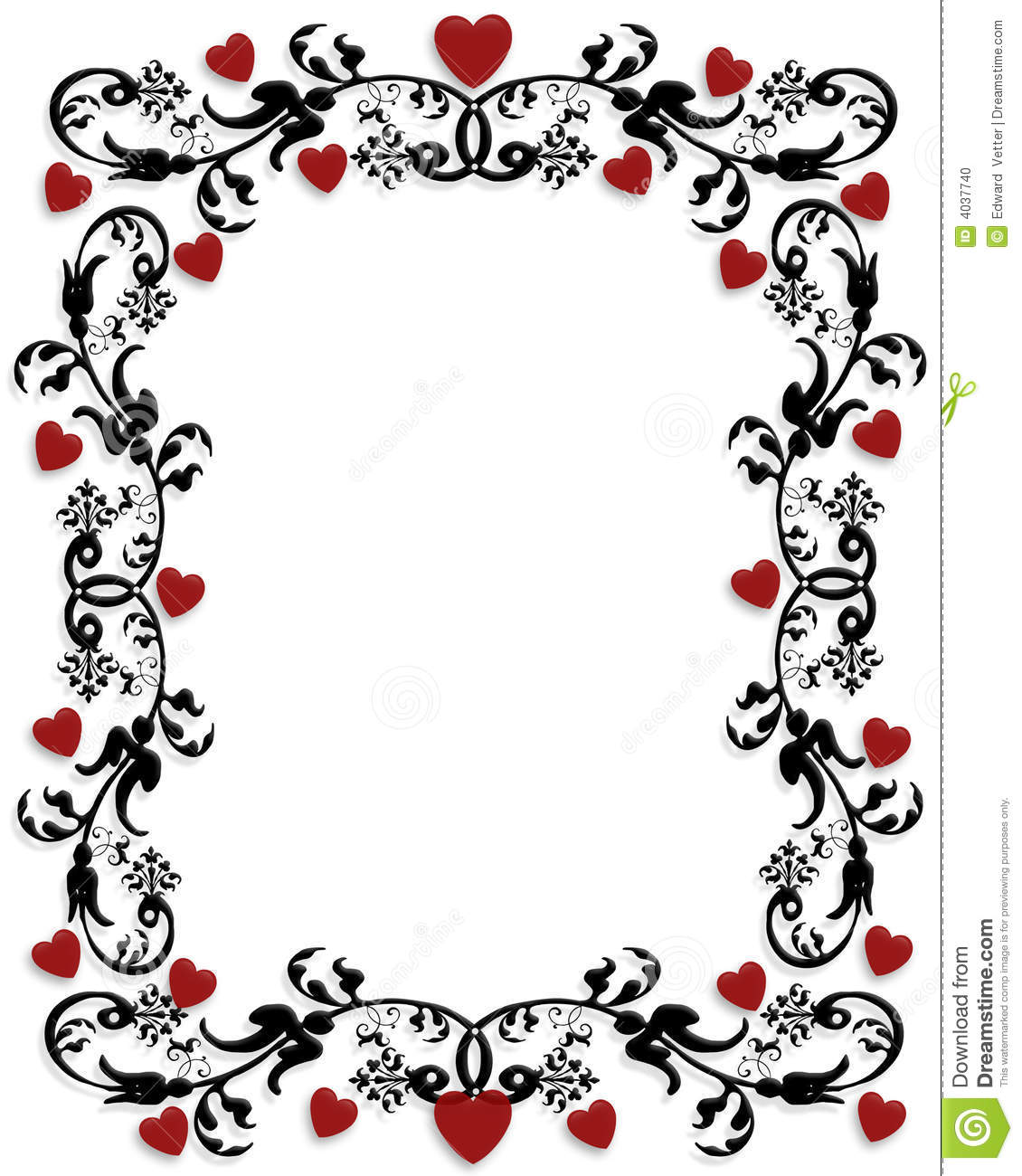 Valentines Day Border Frame Stock Illustration Illustration Of