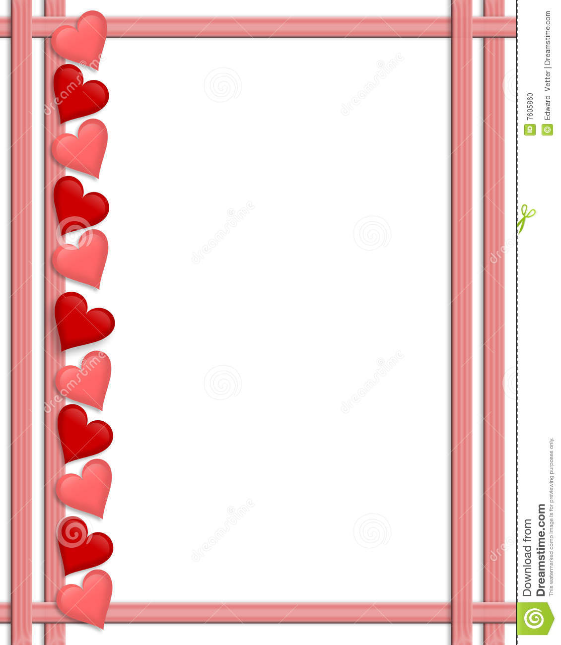 valentines day border hearts stock illustration