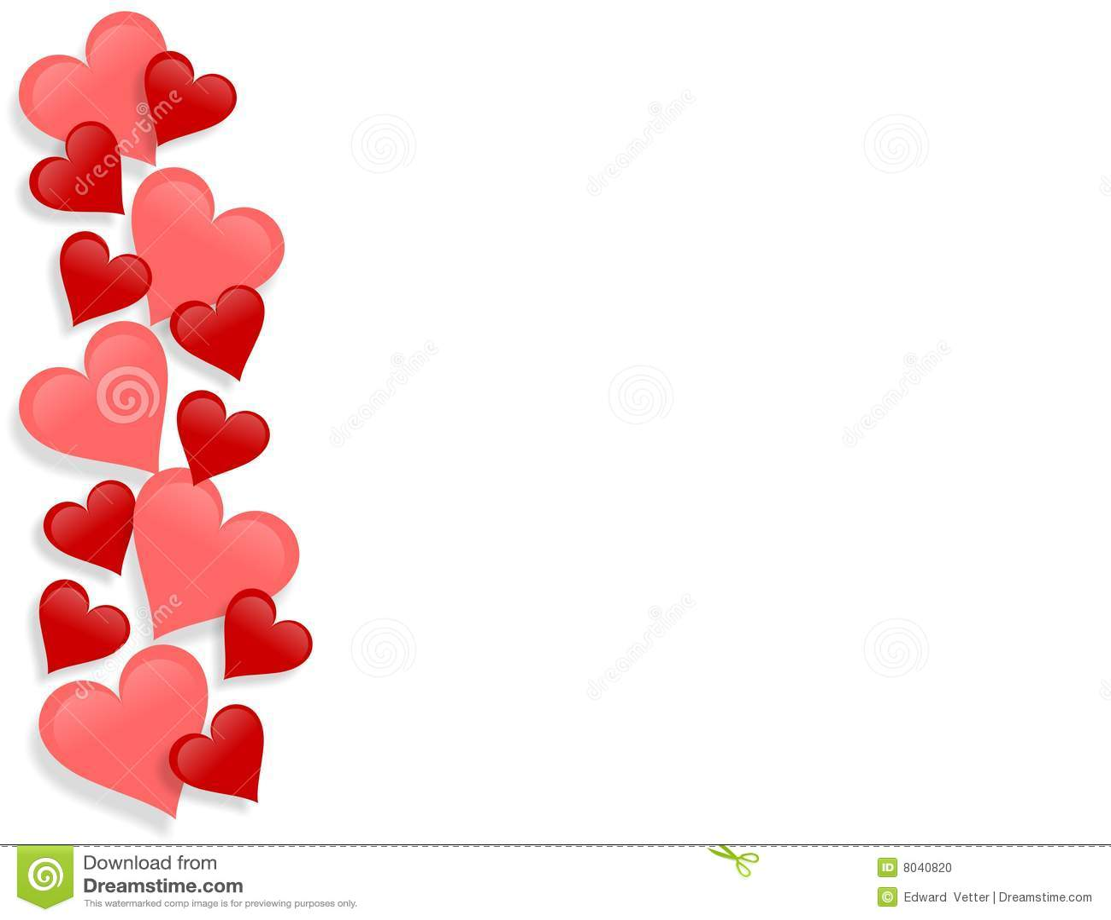 valentines day border hearts stock photo image 8040820