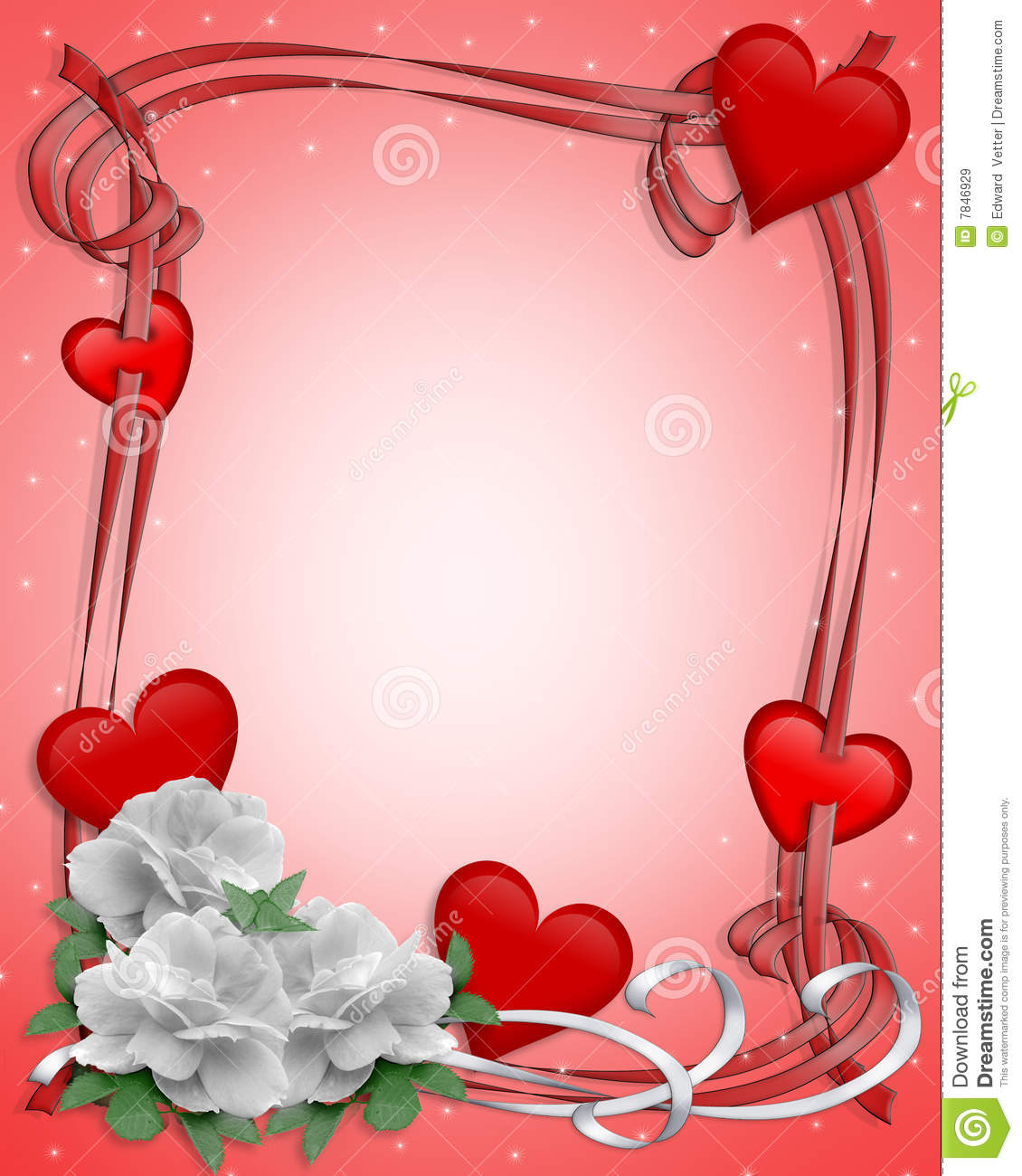 heart floral frame valentine - photo #18