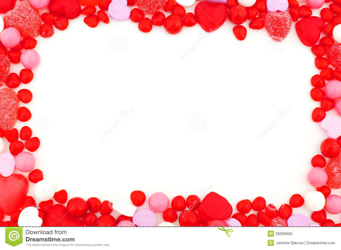 Valentines Day Candy Frame Stock Image Image Of Shaped 36399665