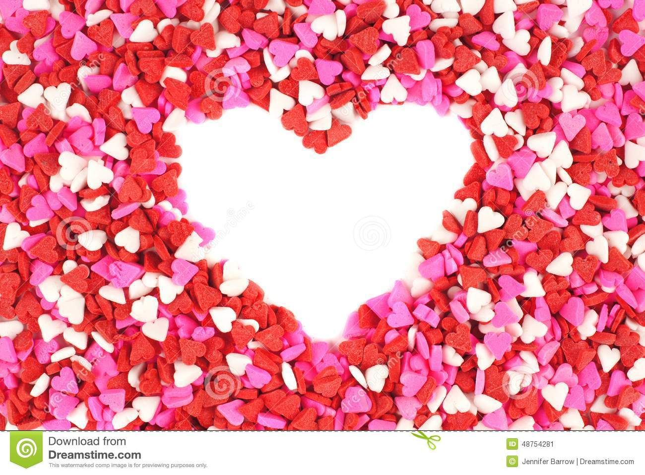 Valentines Day Candy Heart Background Stock Photo Image